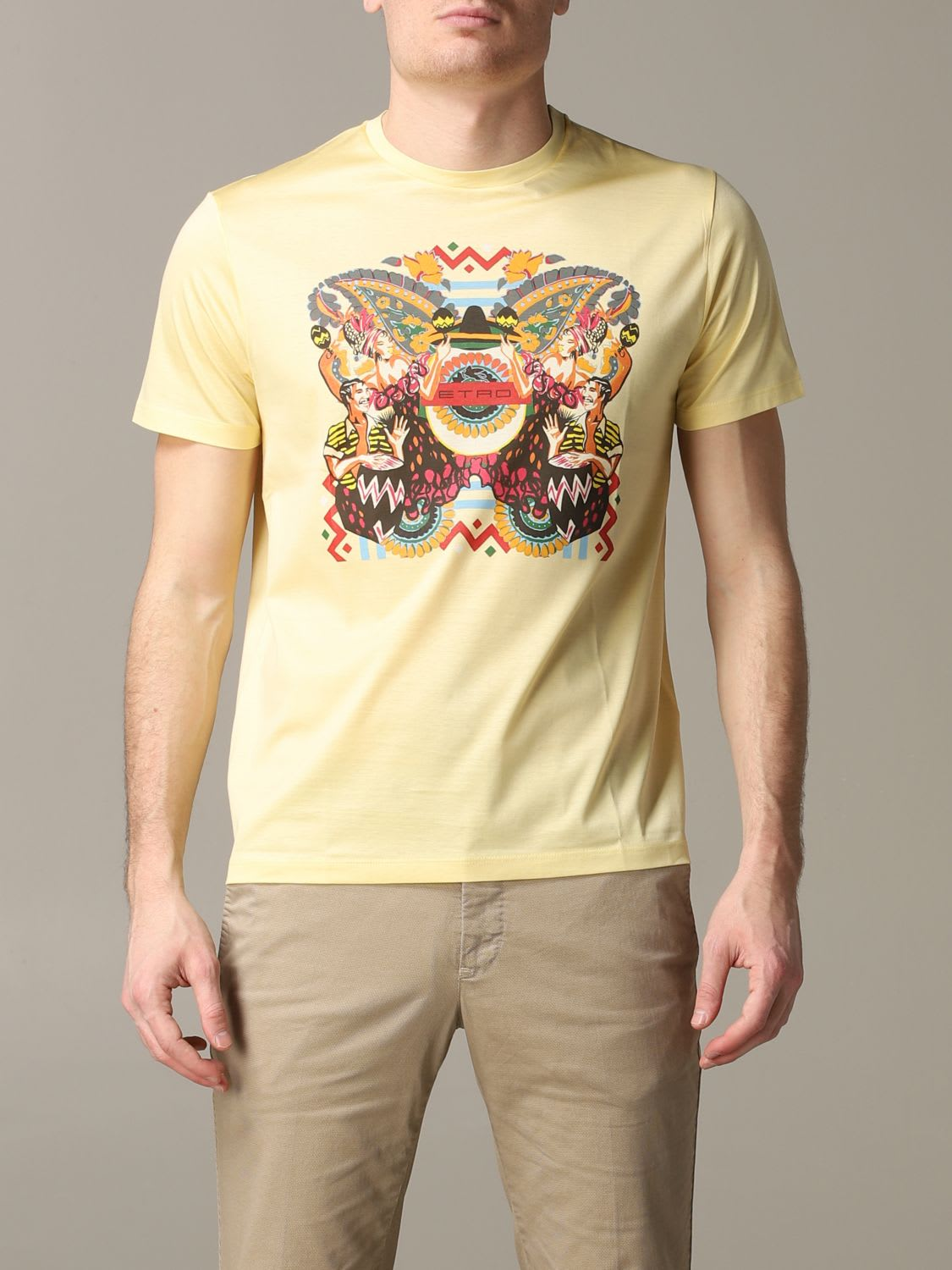 Etro T-shirt Etro Short-sleeved T-shirt With Mexican Print