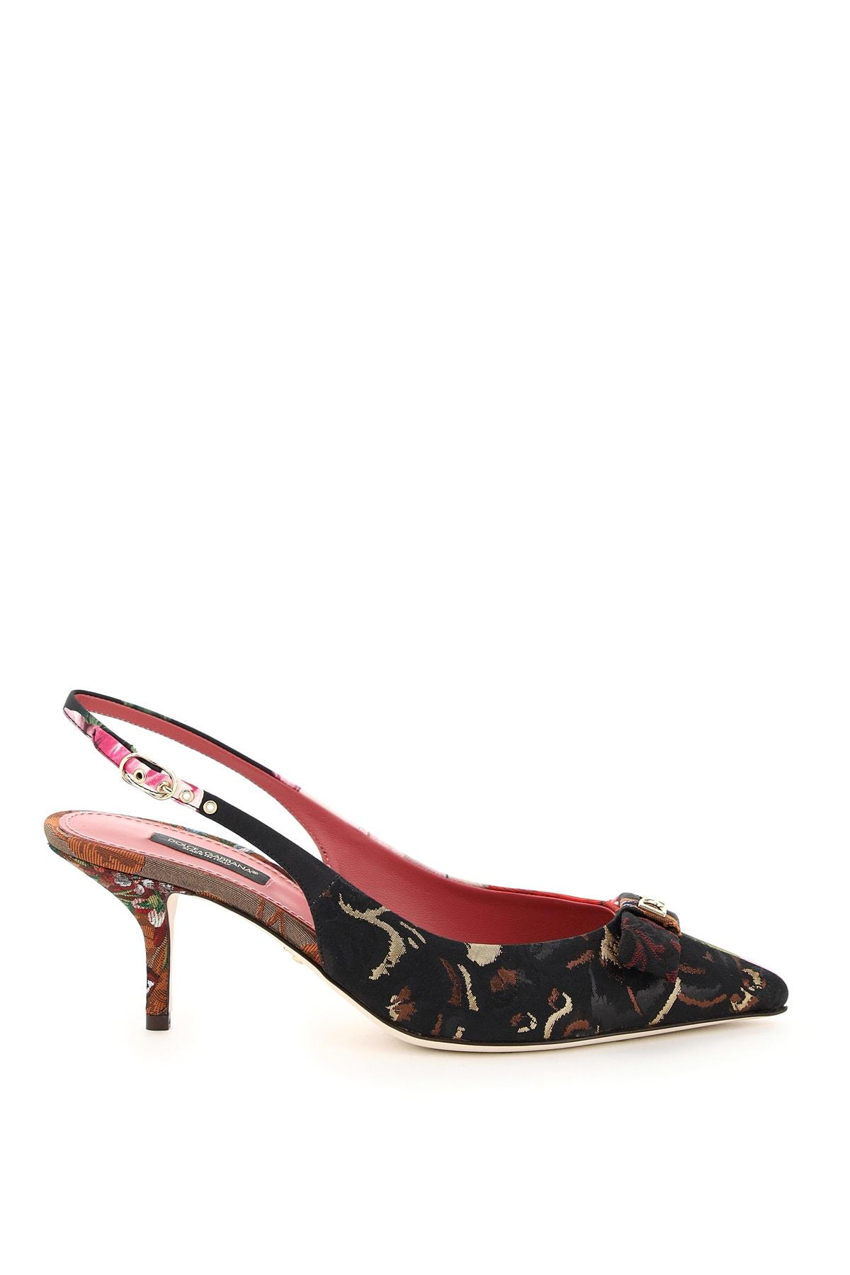 Dolce & Gabbana Leathers CARDINALE SLINGBACK PUMPS 16 PATCH