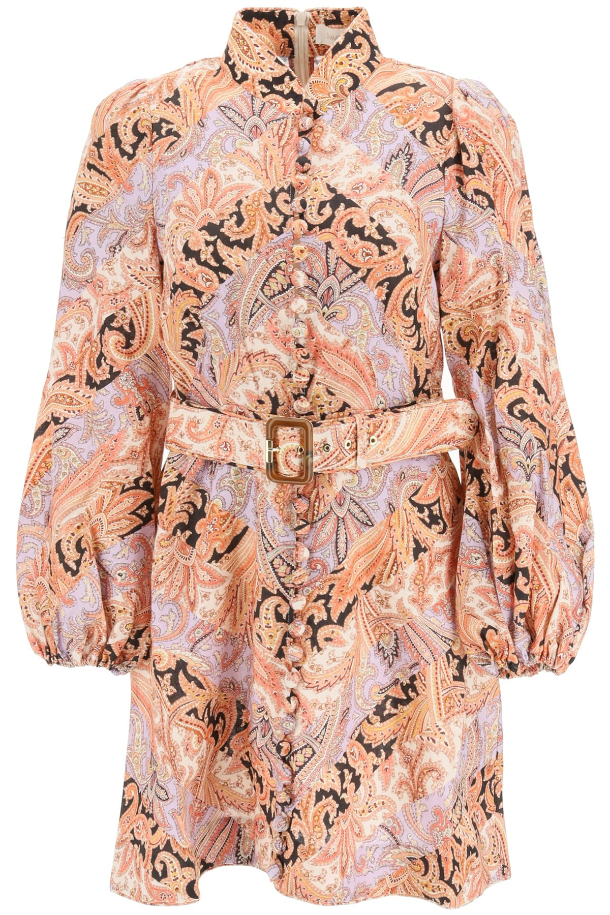 Buy Zimmermann Botanica Chevron Paisley Mini Dress online, shop Zimmermann with free shipping