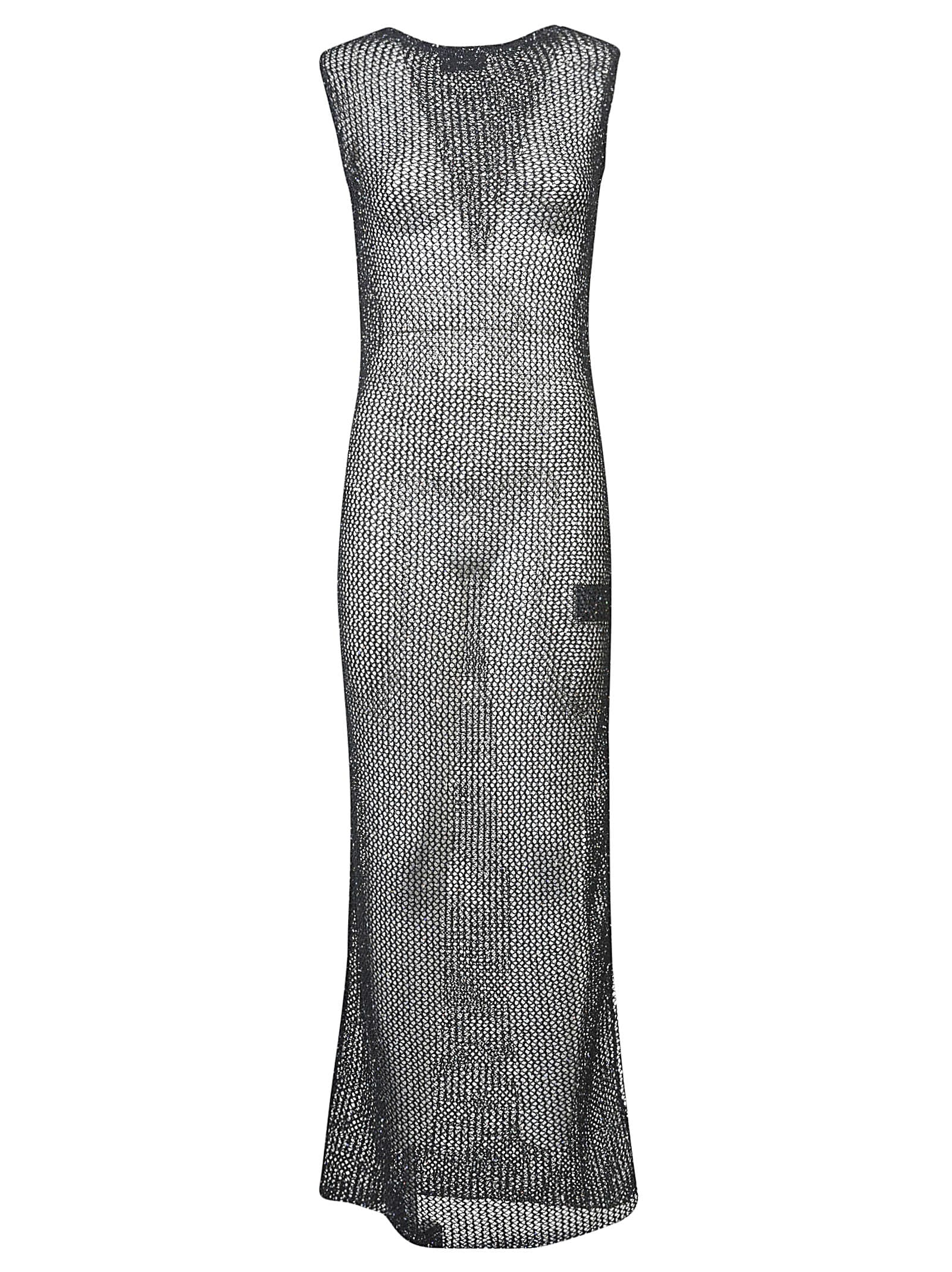 Buy Alanui Sequined Net Long Knit Dress online, shop Alanui with free shipping