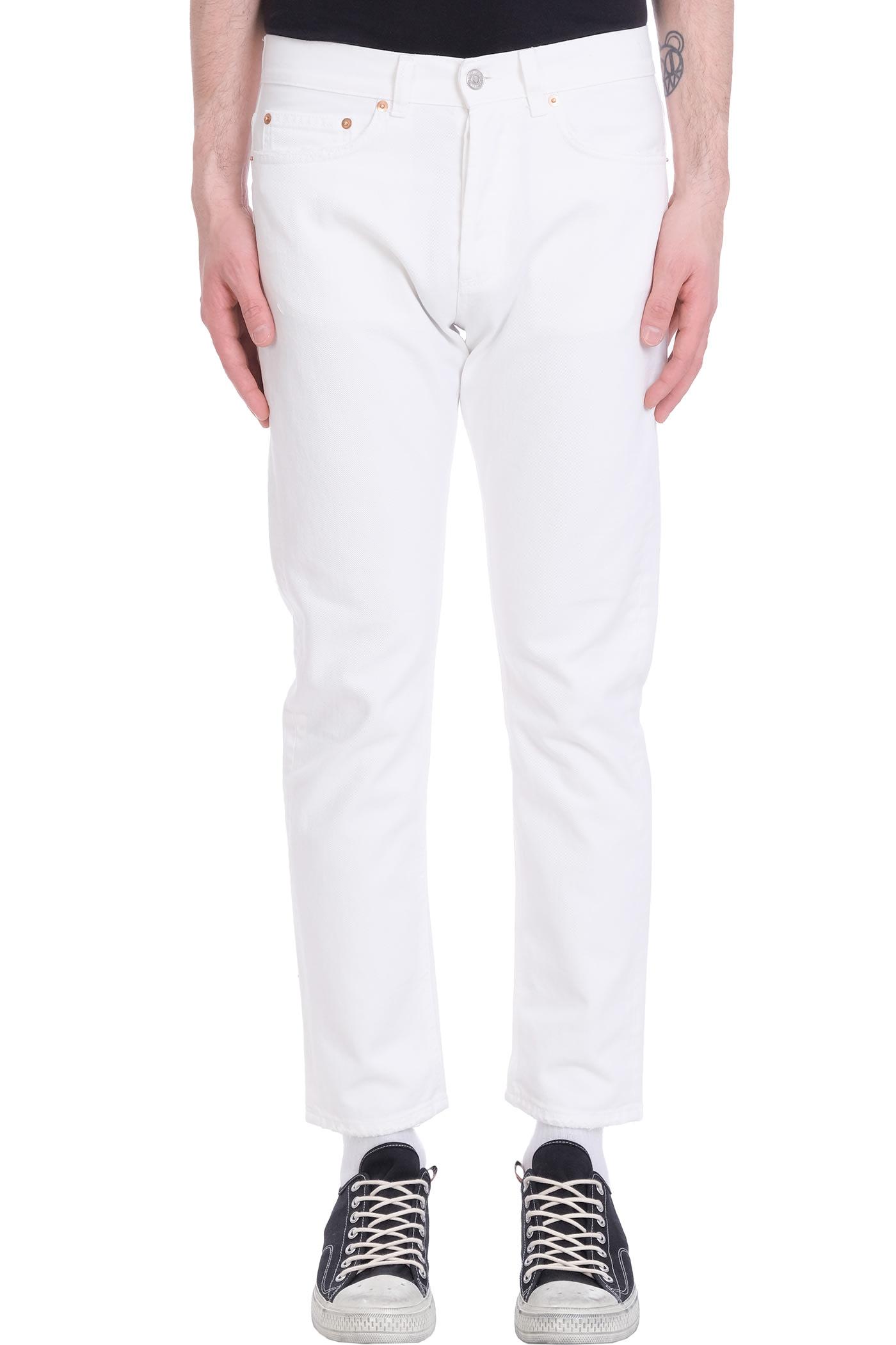 Jeans In White Denim