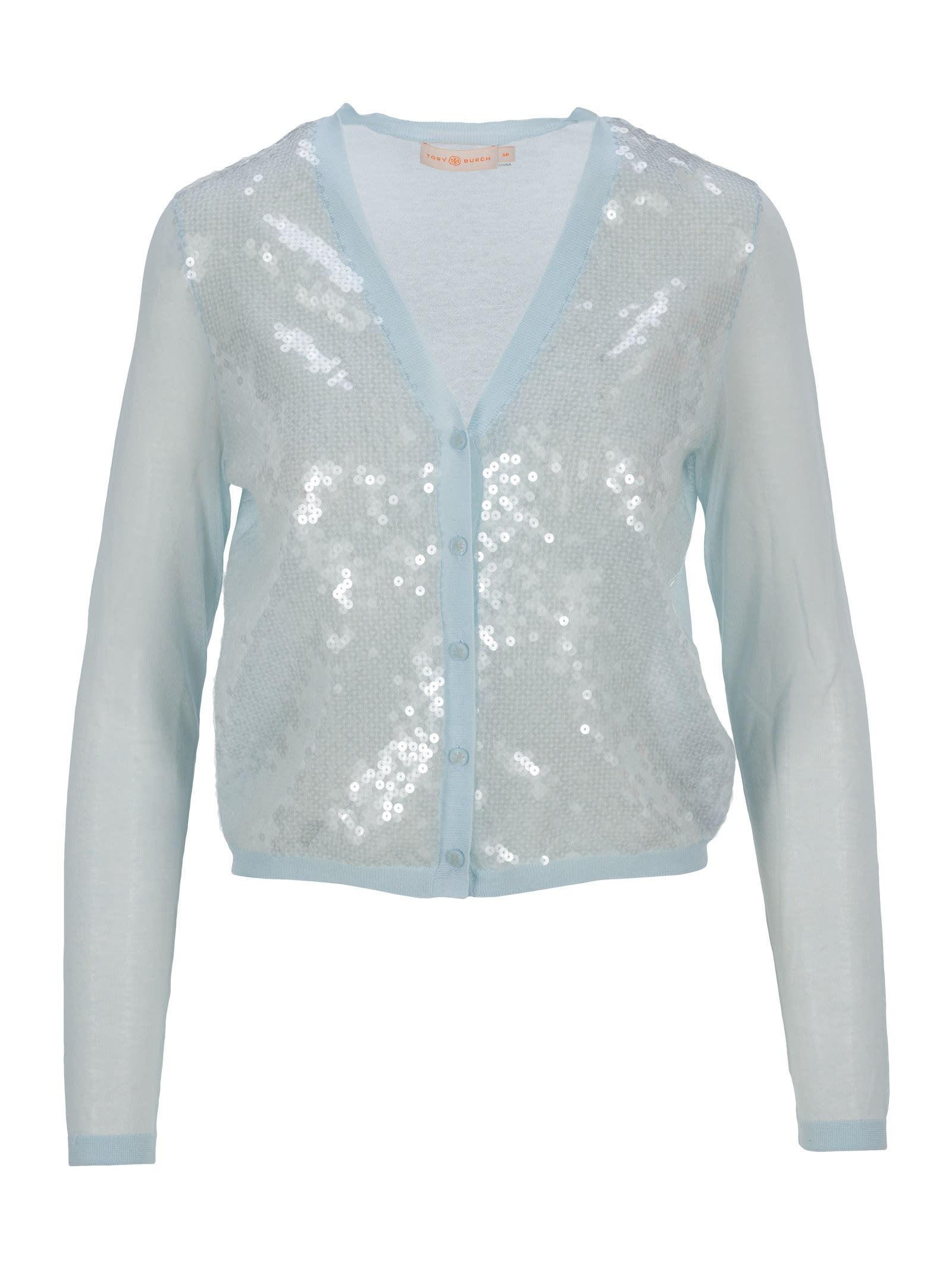 Tory Burch Cottons SIMONE SEQUINED CARDIGAN