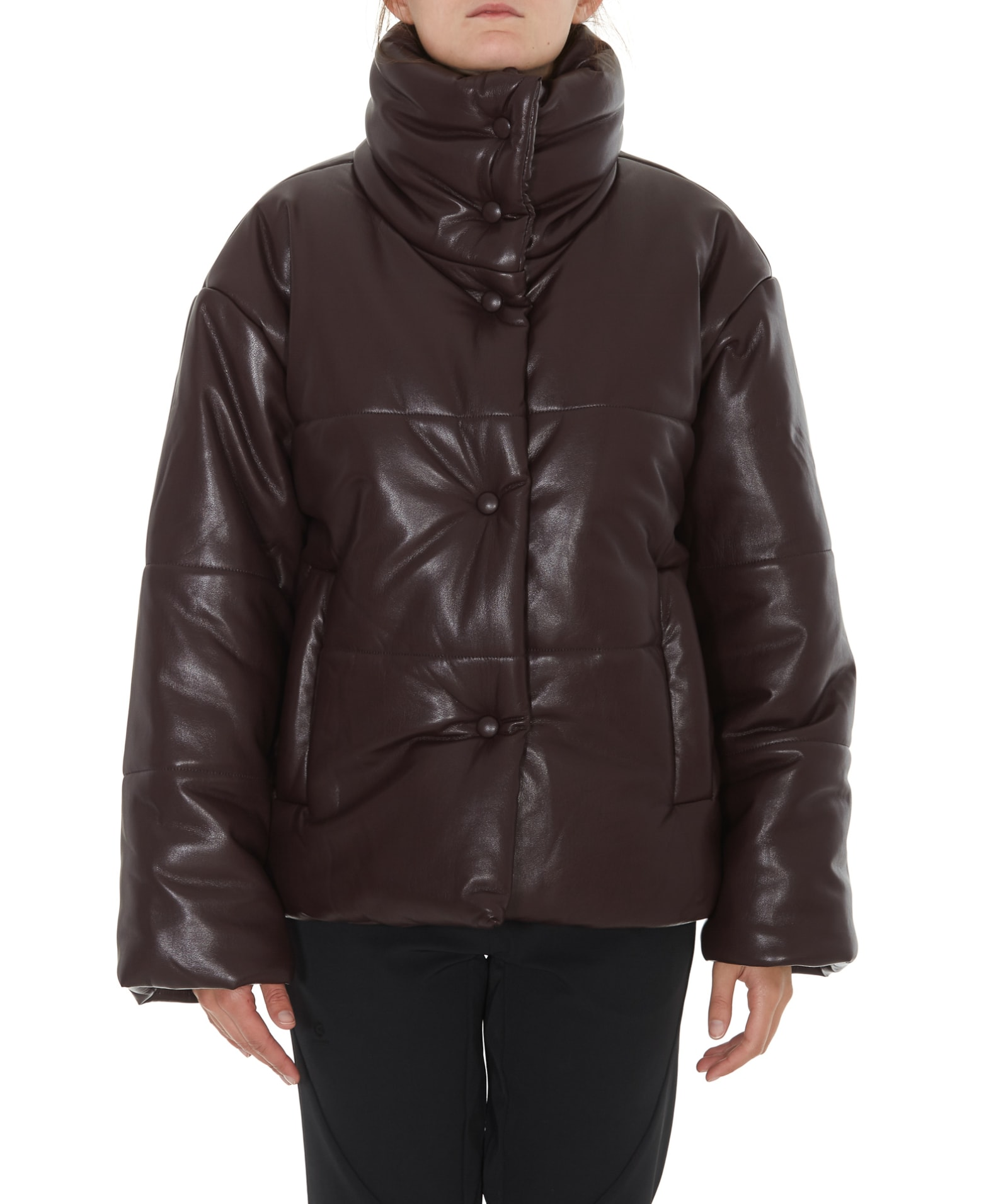 Nanushka Hide Vegan Leather Down Jacket