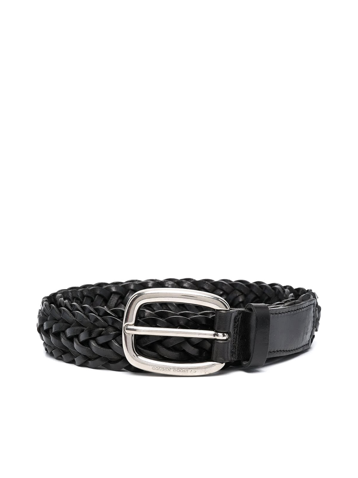 Golden Goose Belts BELT HOUSTON WOVEN WASHED LEATHER