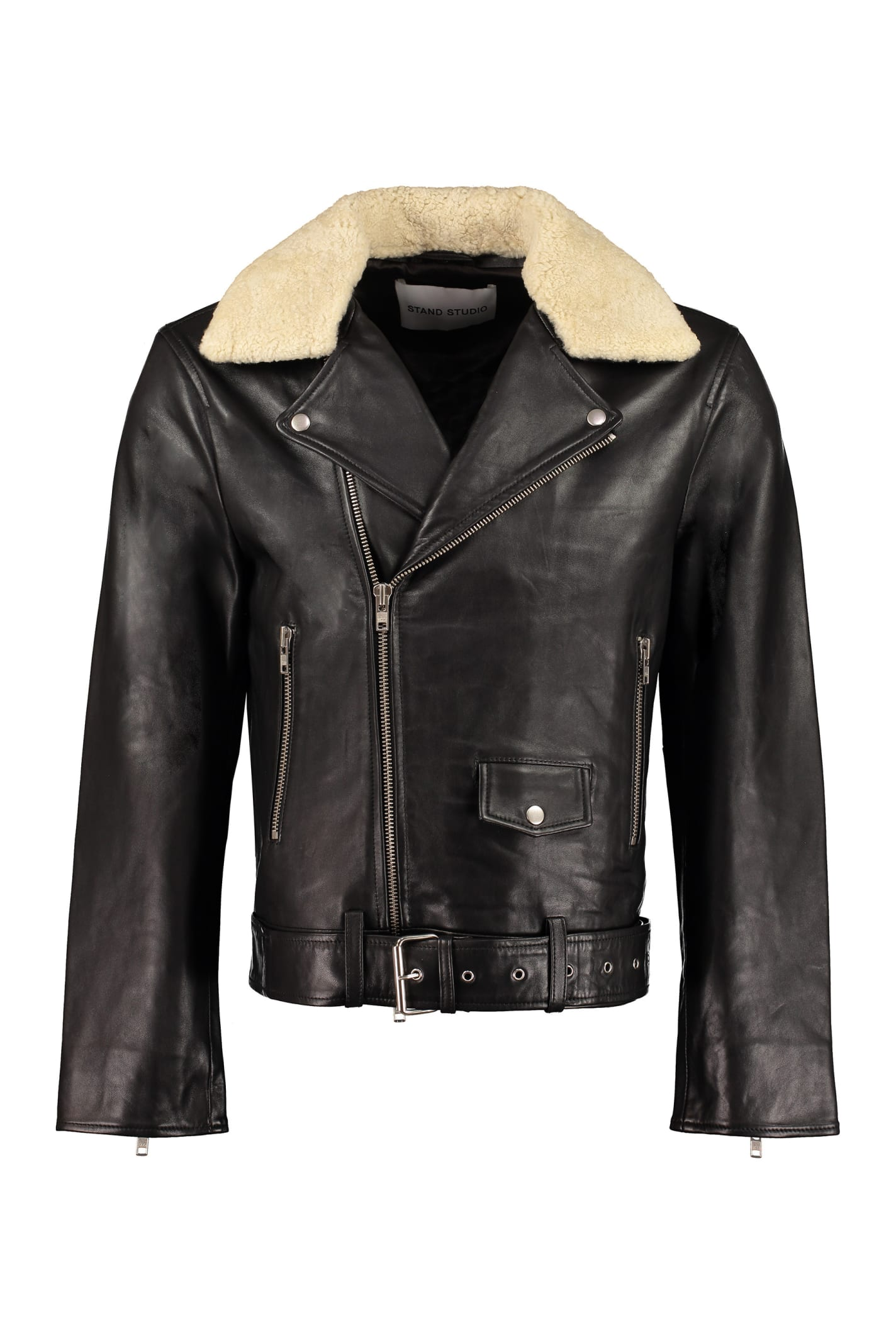 Stand Studio George Leather Jacket In Black