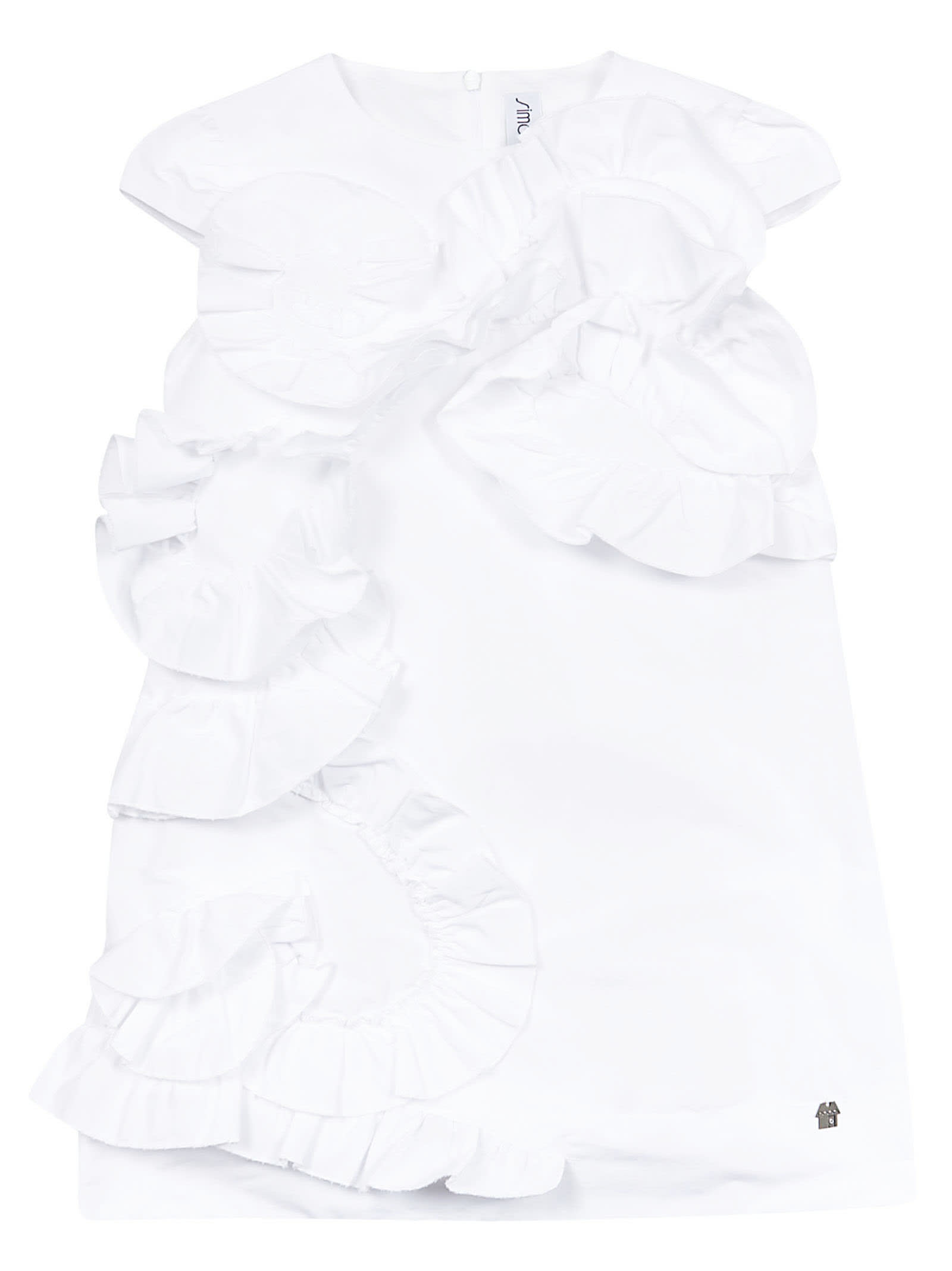 Simonetta Ruffled Detail Dress