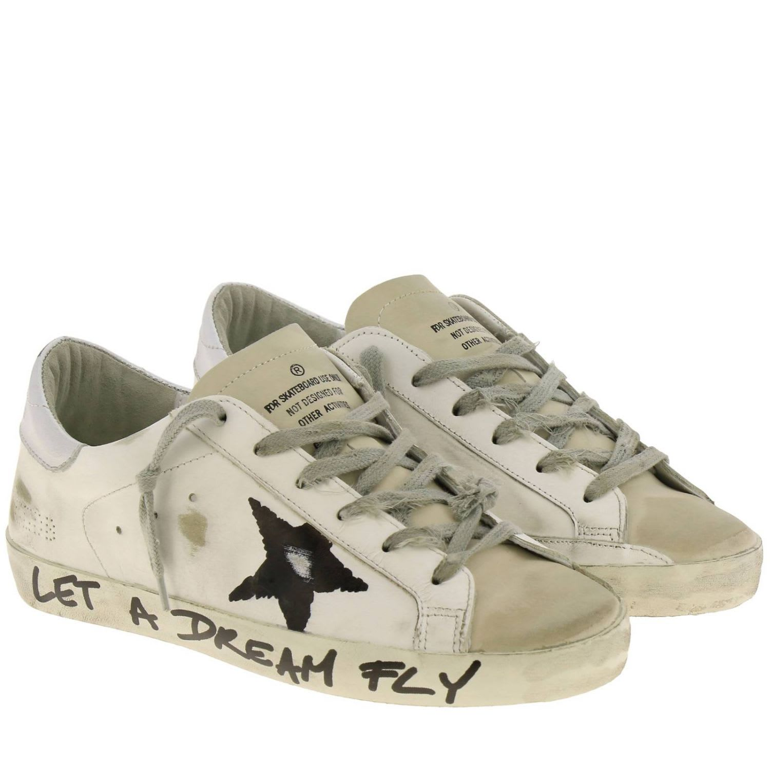 site réputé b4489 f48ea Golden Goose Sneakers Superstar Golden Goose Sneakers In Used Leather With  Laminated Heel And Painted Star
