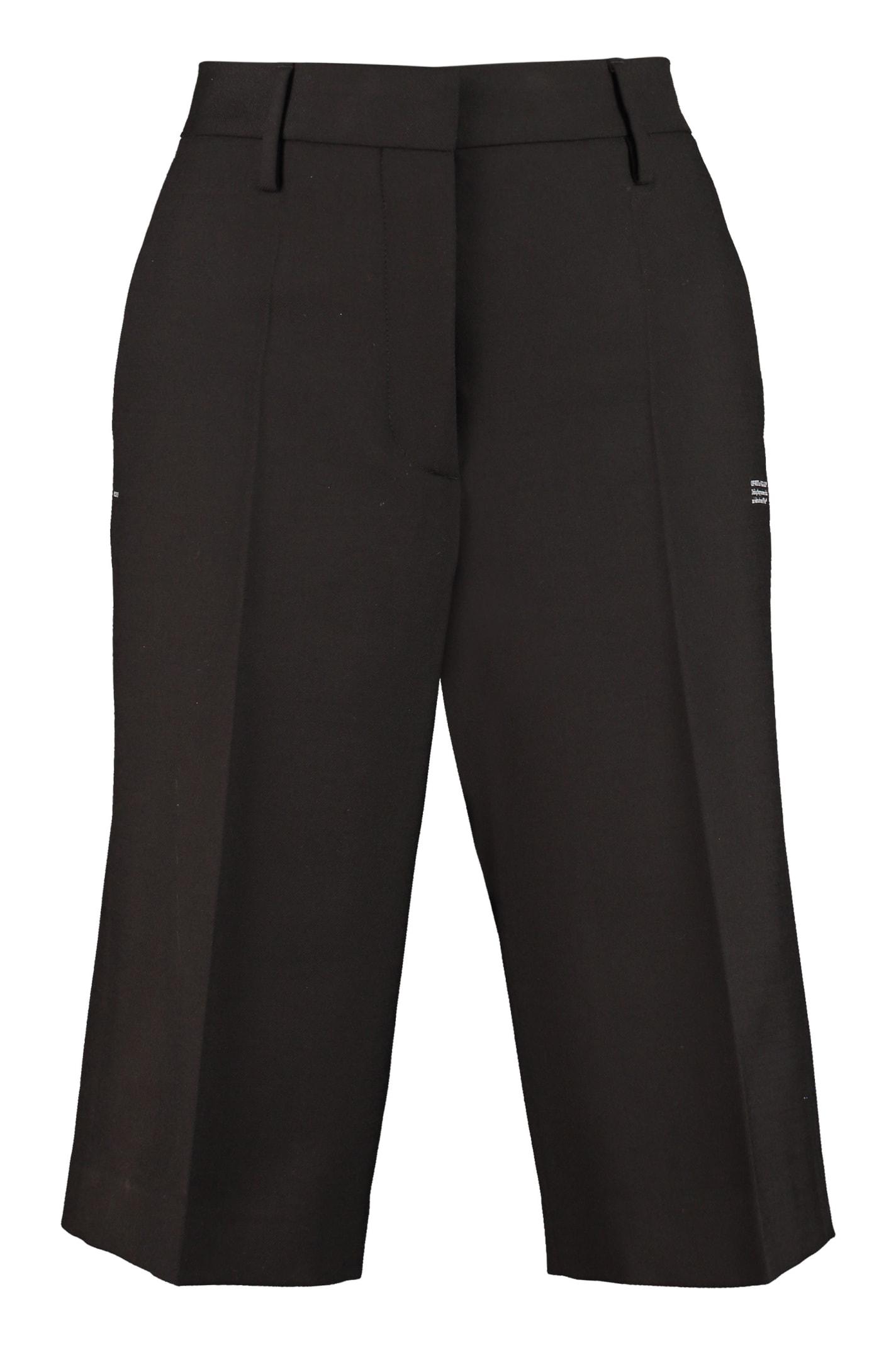 Off-White Wool Bermuda-shorts