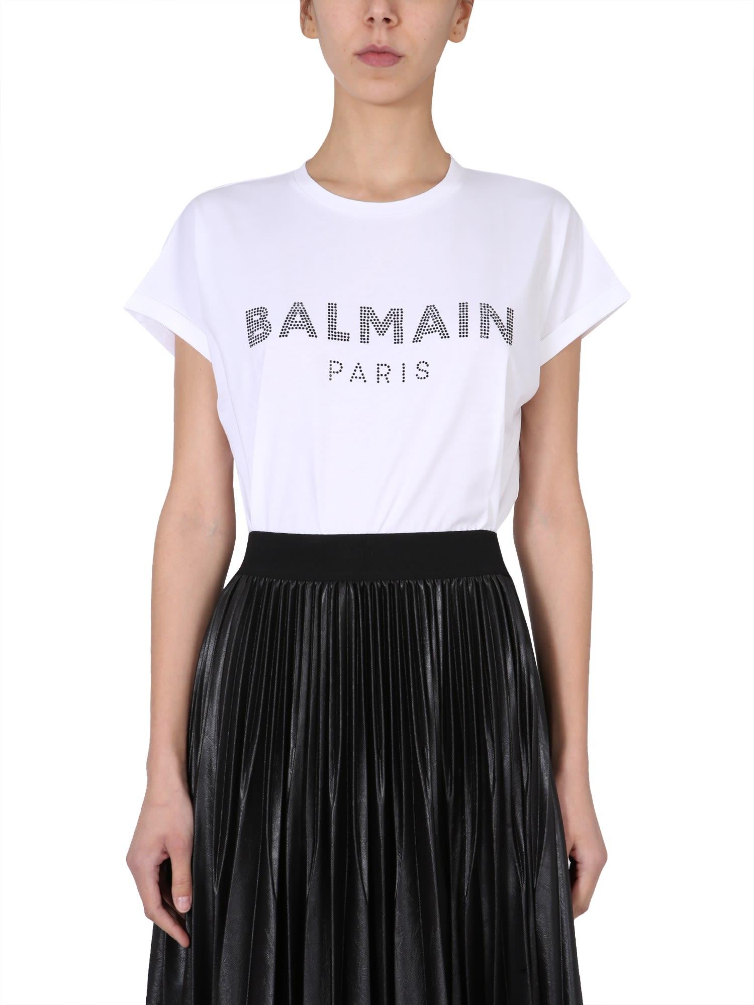 Balmain T-shirt With Logo Print