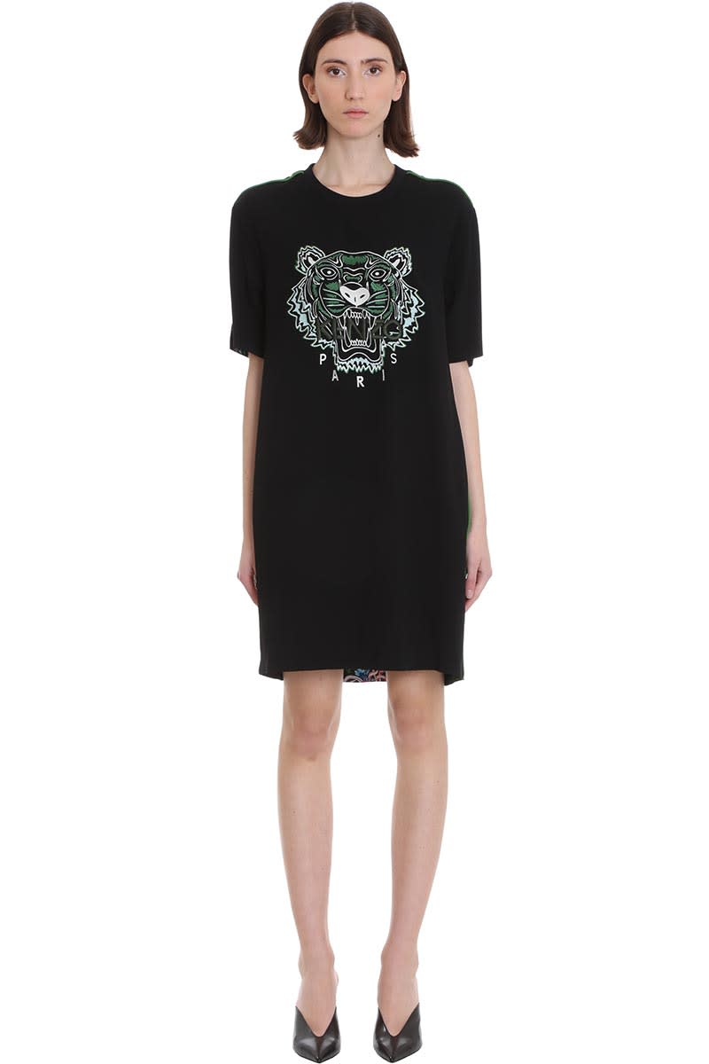 Buy Kenzo Dress In Green Cotton online, shop Kenzo with free shipping