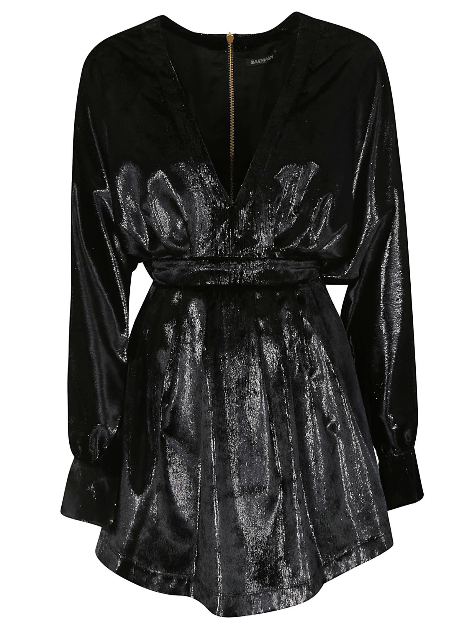 Photo of  Balmain Rear Zipped Dress- shop Balmain  online sales