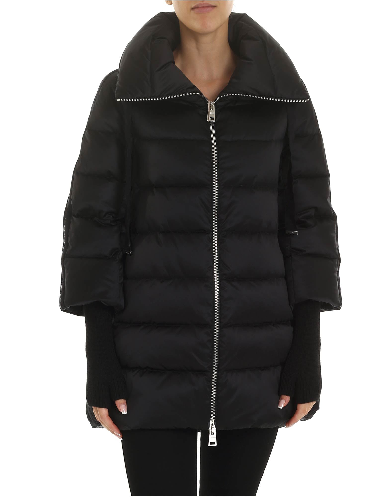 Herno – Resort Jacket With Knitted Sleeves
