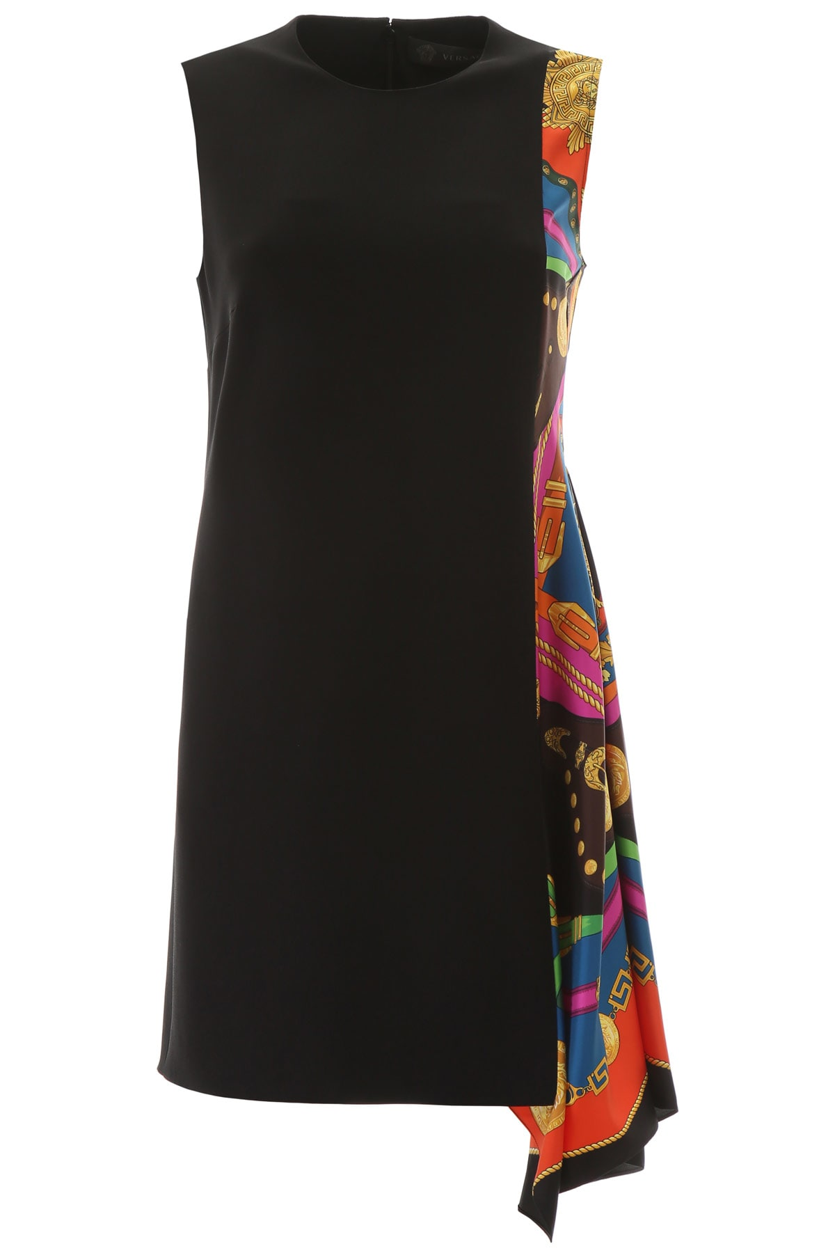 Buy Versace Barocco Rodeo Print Asymmetrical Dress online, shop Versace with free shipping