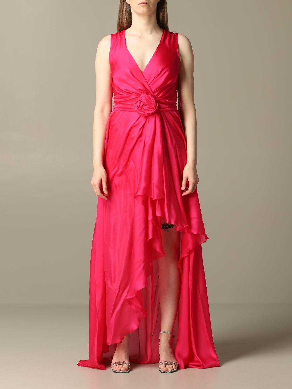 Blumarine Dress Long Blumarine Organza Dress With Belt