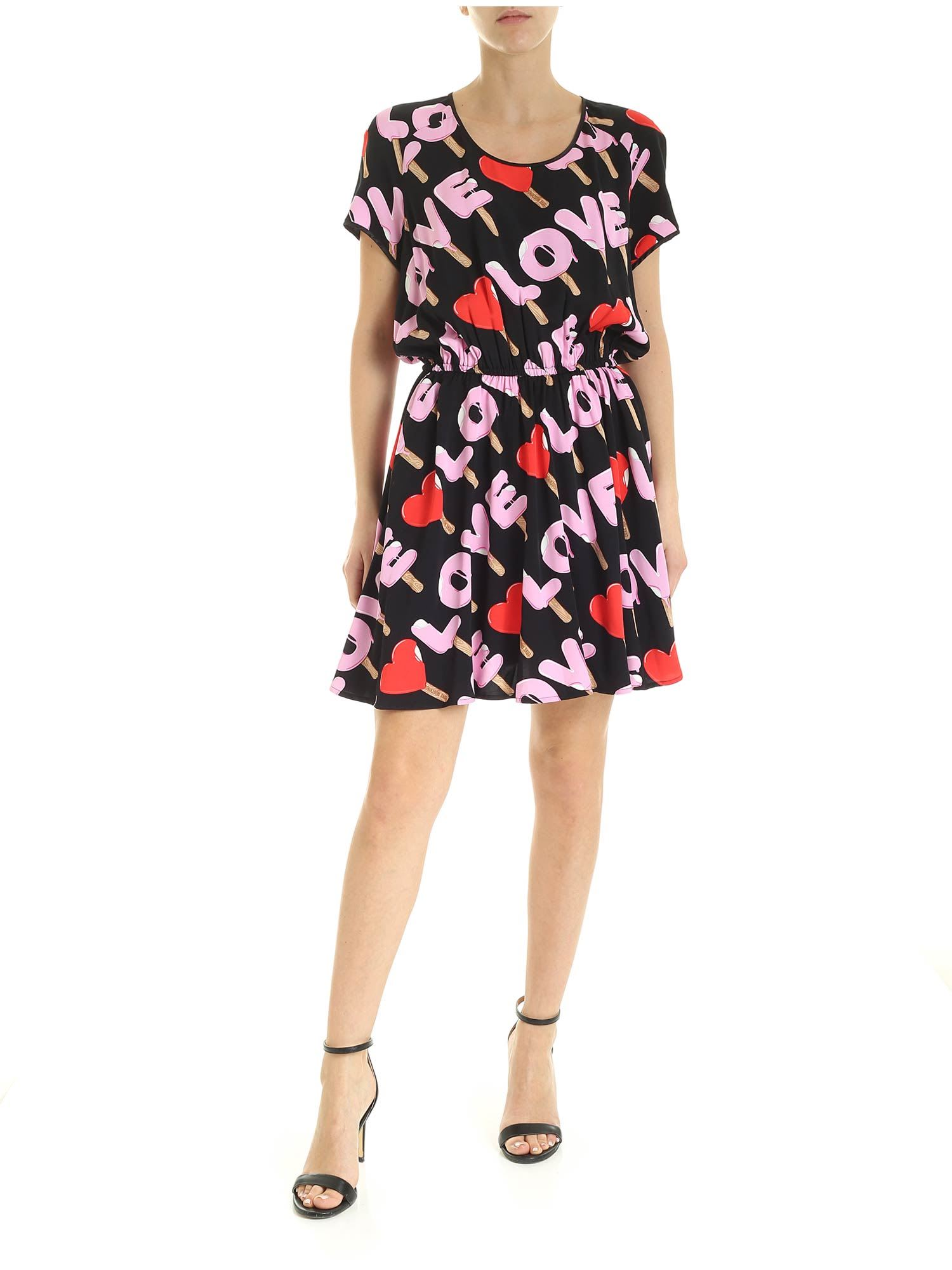 Buy Love Moschino Icecream Dress online, shop Love Moschino with free shipping