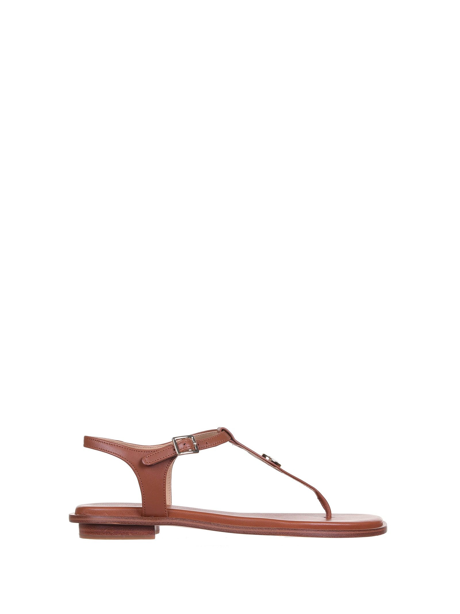 MICHAEL Michael Kors Mallory Brown Leather Sandals