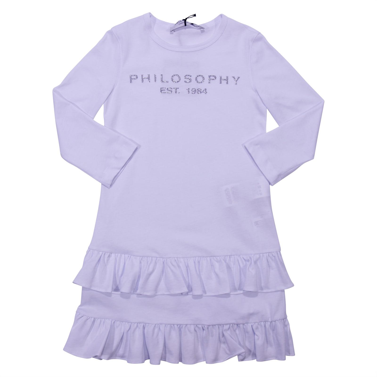 Philosophy di Lorenzo Serafini White Cotton Jersey Dress