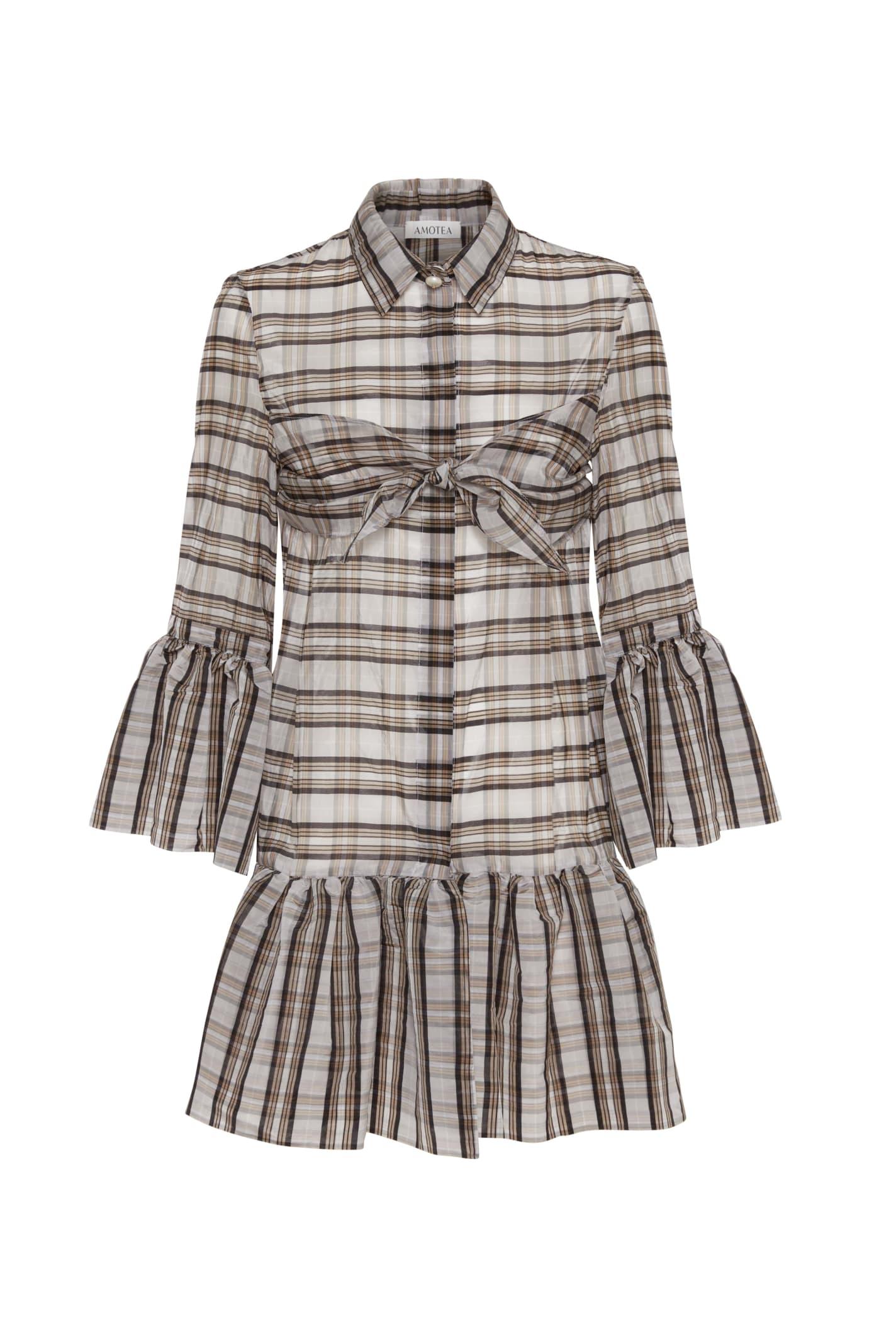 Buy Amotea Nina Tartan Mini Dress online, shop Amotea with free shipping