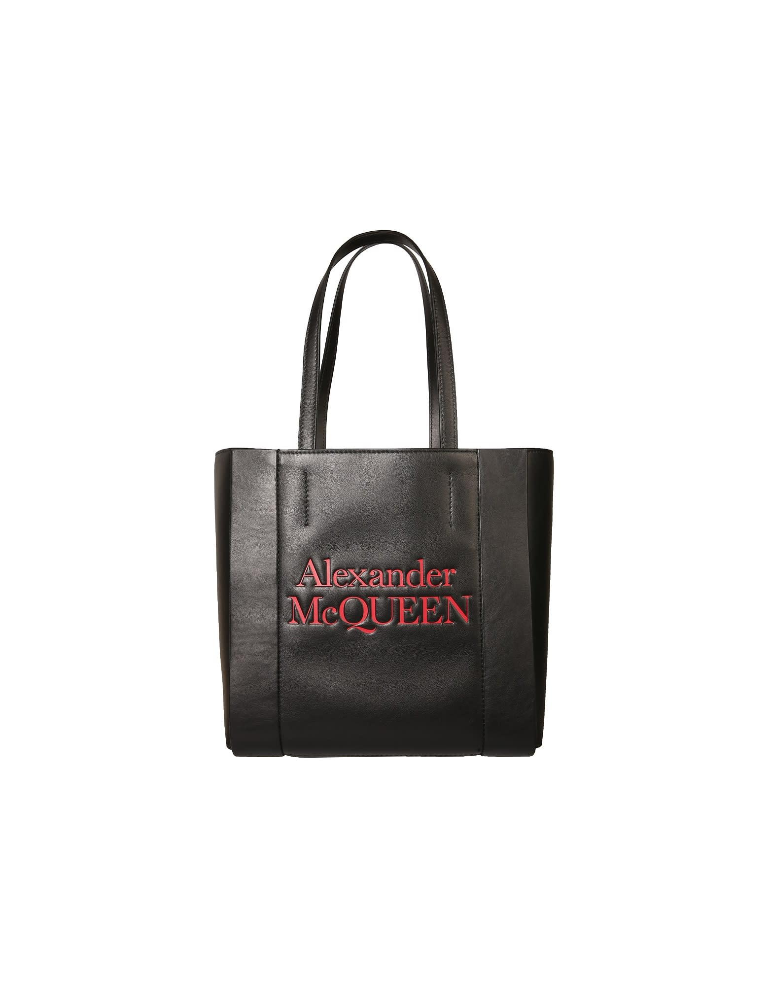 Alexander Mcqueen Canvases ALEXANDER MCQUEEN SIGNATURE TOTE BAG