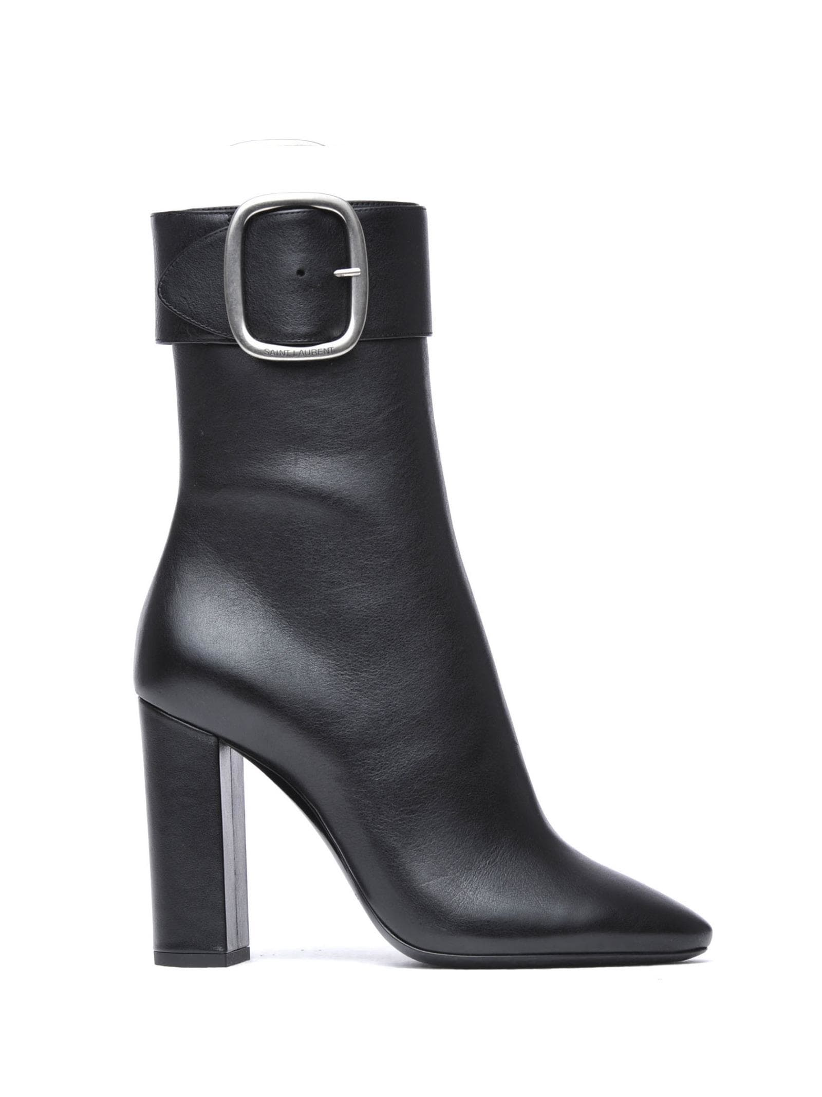 a09d0ac9ff5 Saint Laurent Saint Laurent Joplin Buckle Ankle Boots - NERO ...