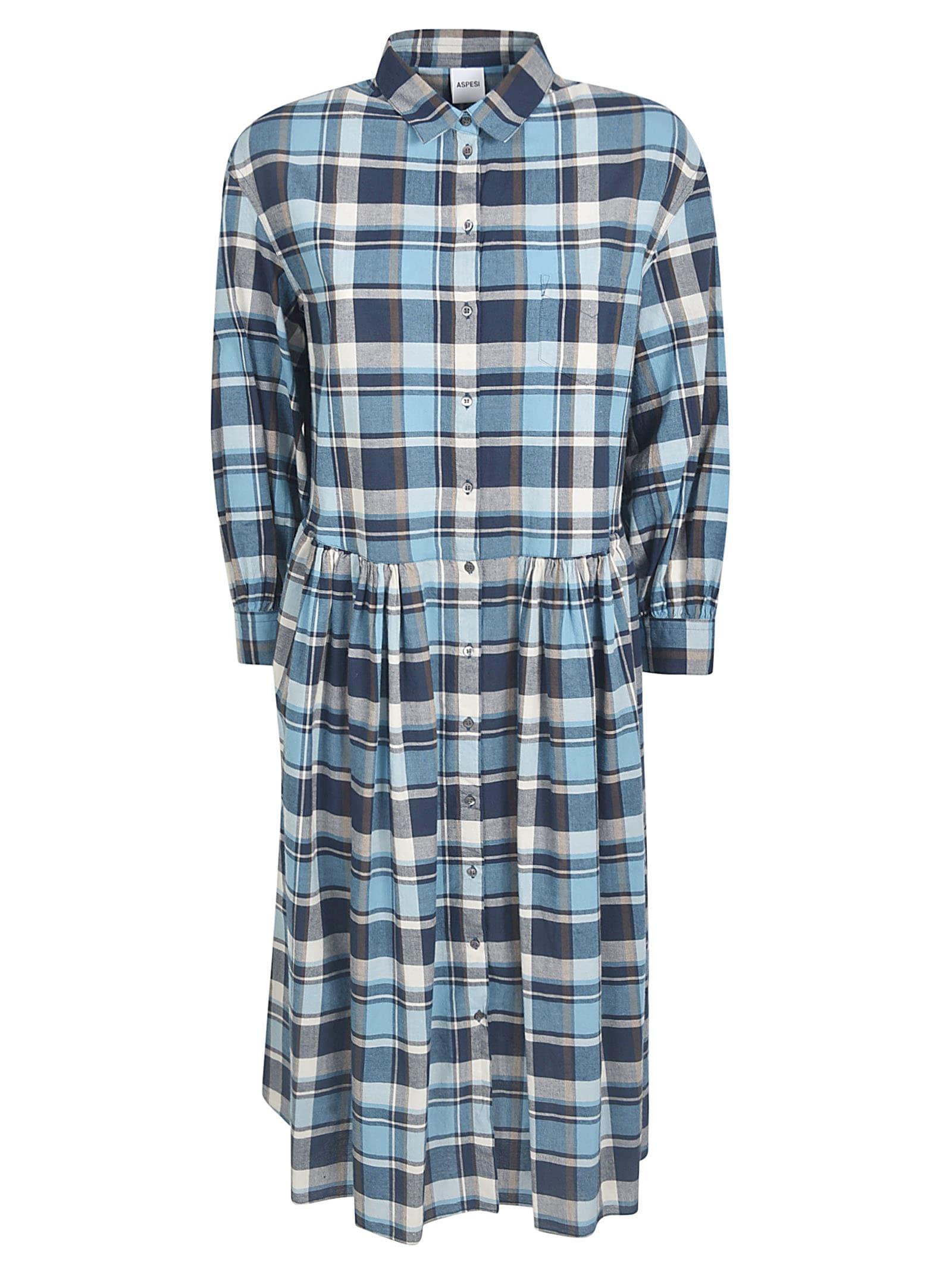 Buy Aspesi Checked Shirt Dress online, shop Aspesi with free shipping