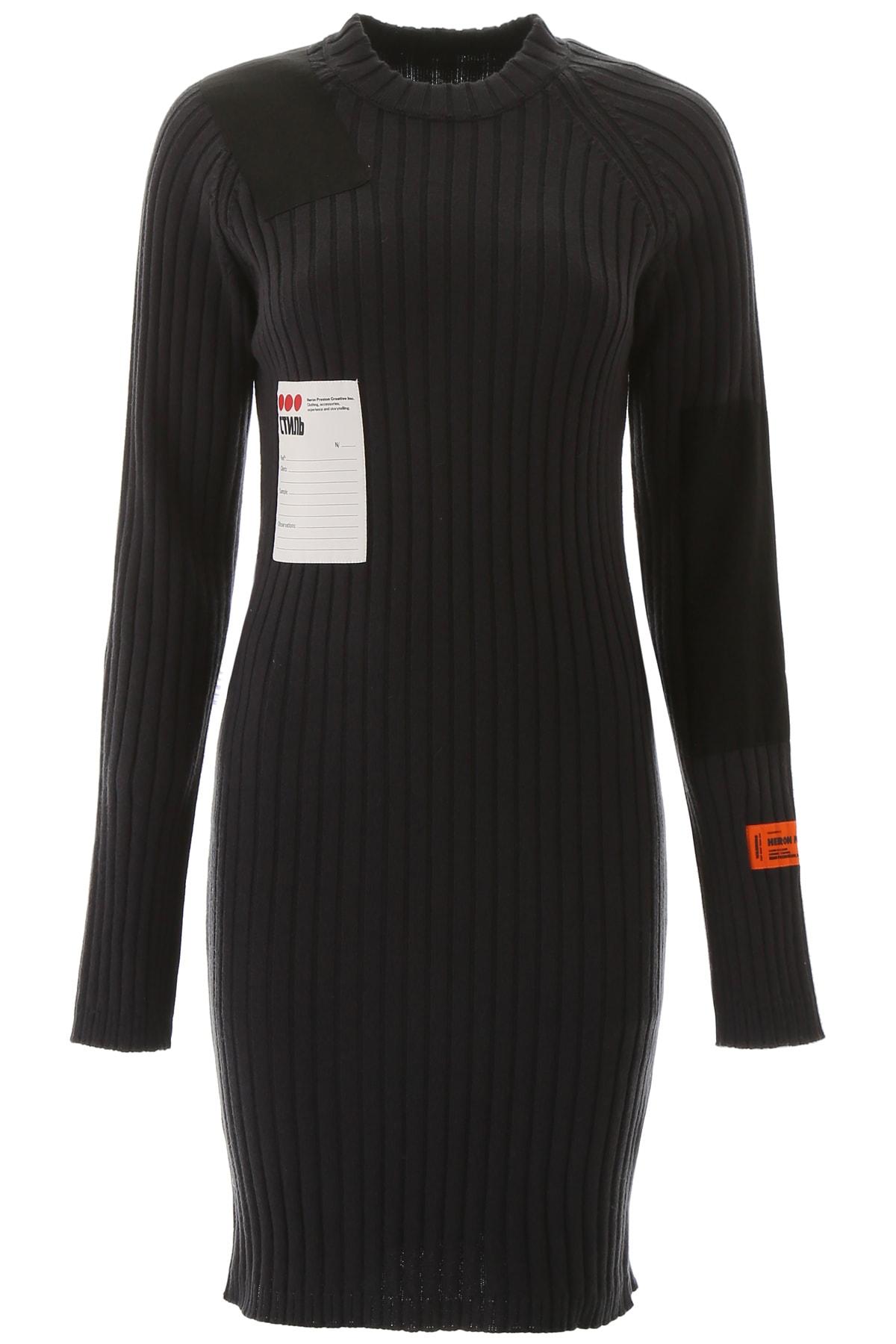 HERON PRESTON Ribbed Knit Dress