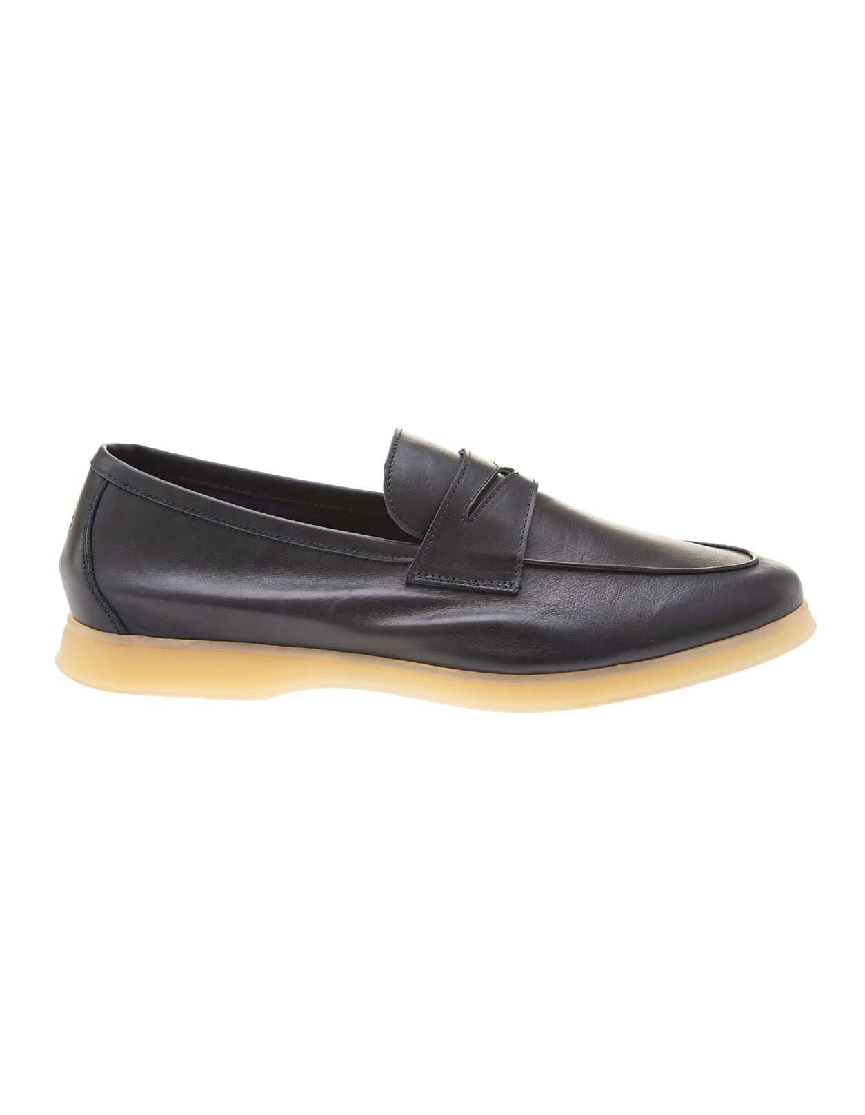 Aquariva Beach Loafer In Dark Blue Leather