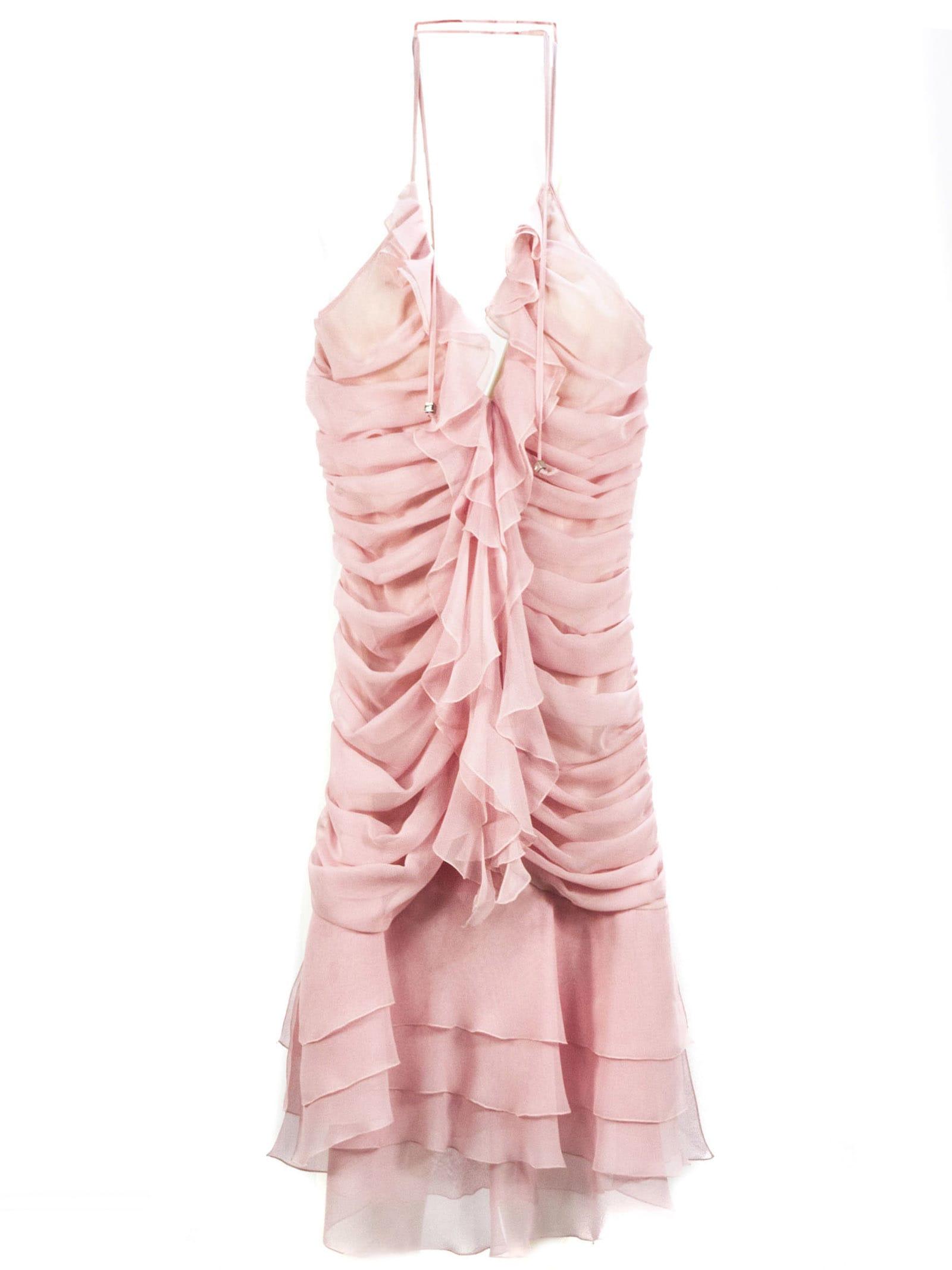 Buy Blumarine Pink Silk Dress online, shop Blumarine with free shipping