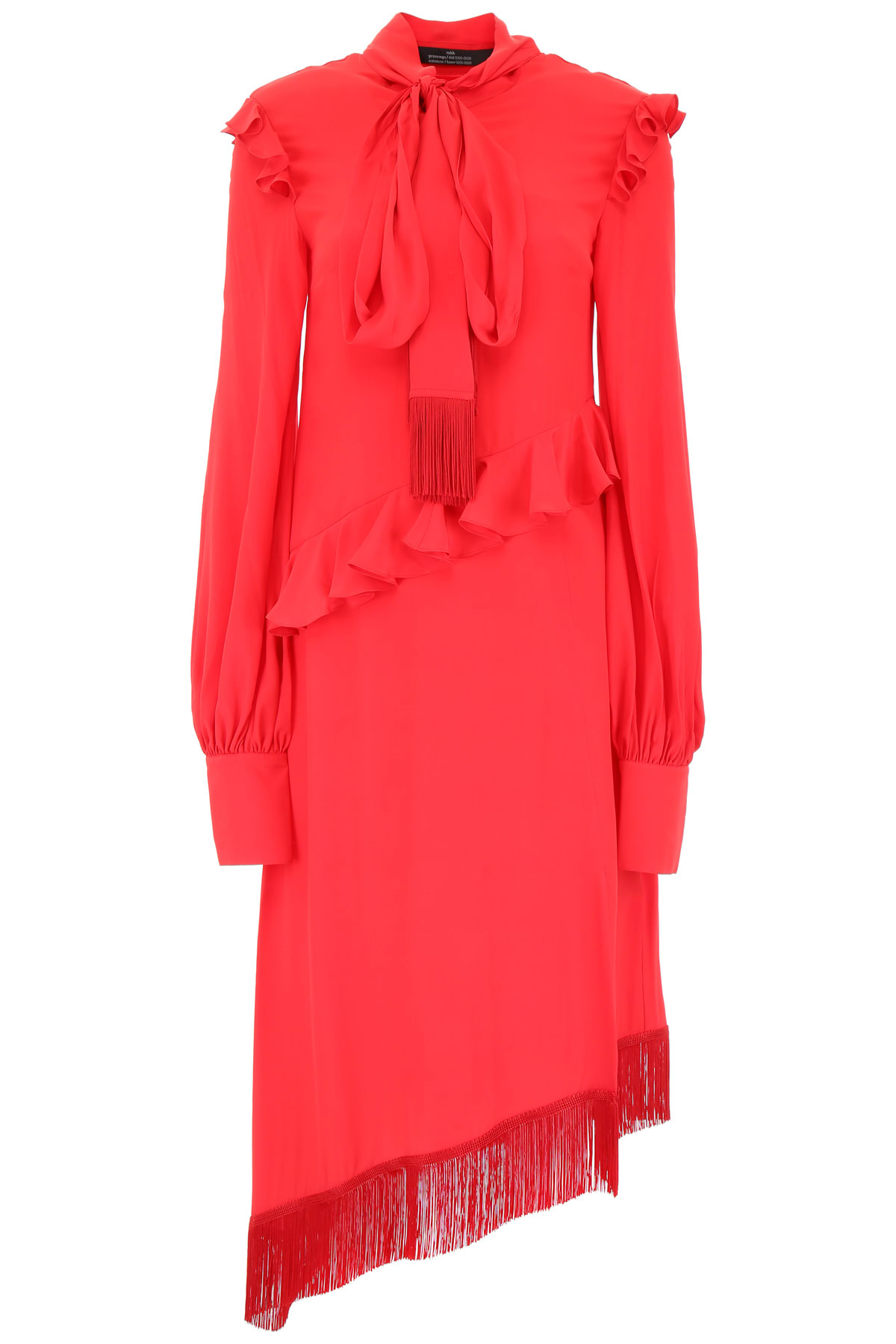 Rokh Asymmetric Ruffled Dress