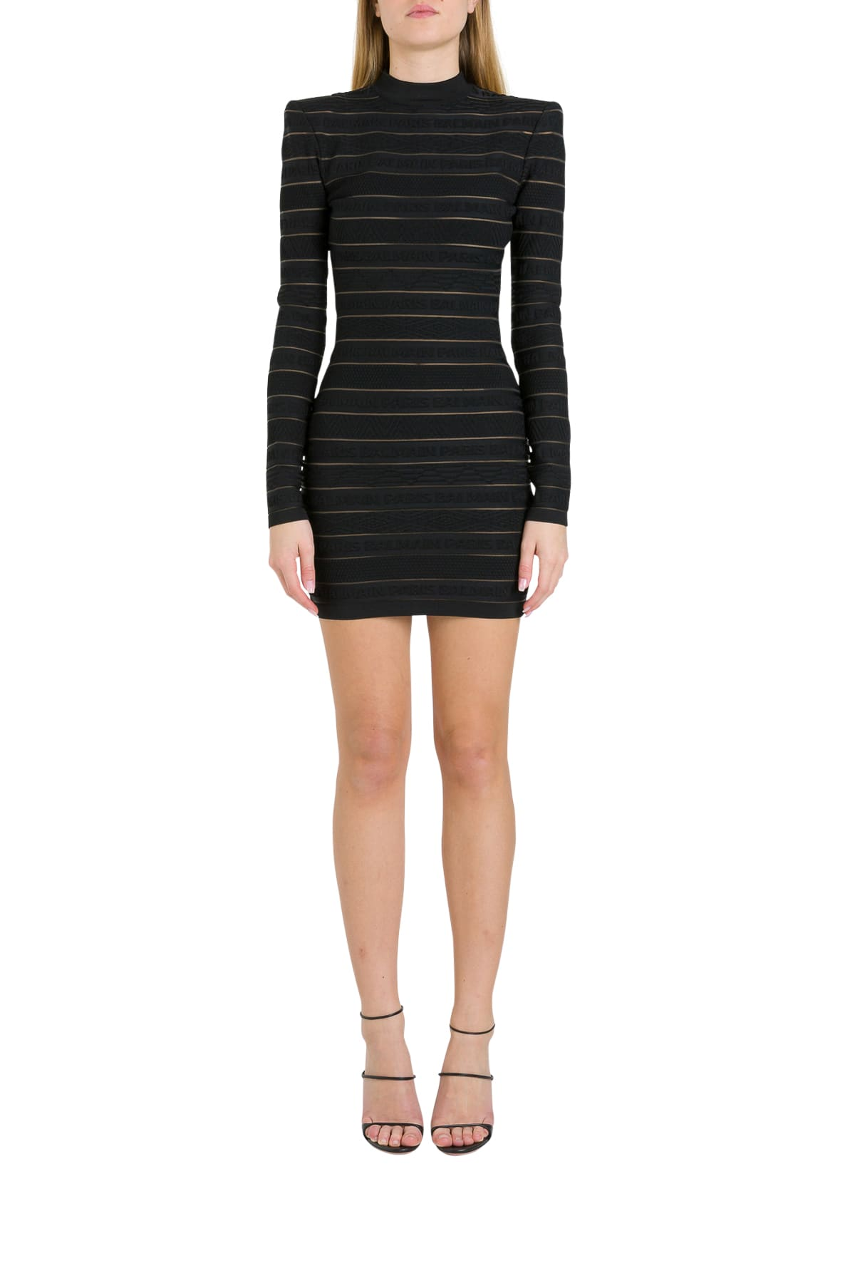Buy Logo Stripes Dress online, shop Balmain with free shipping