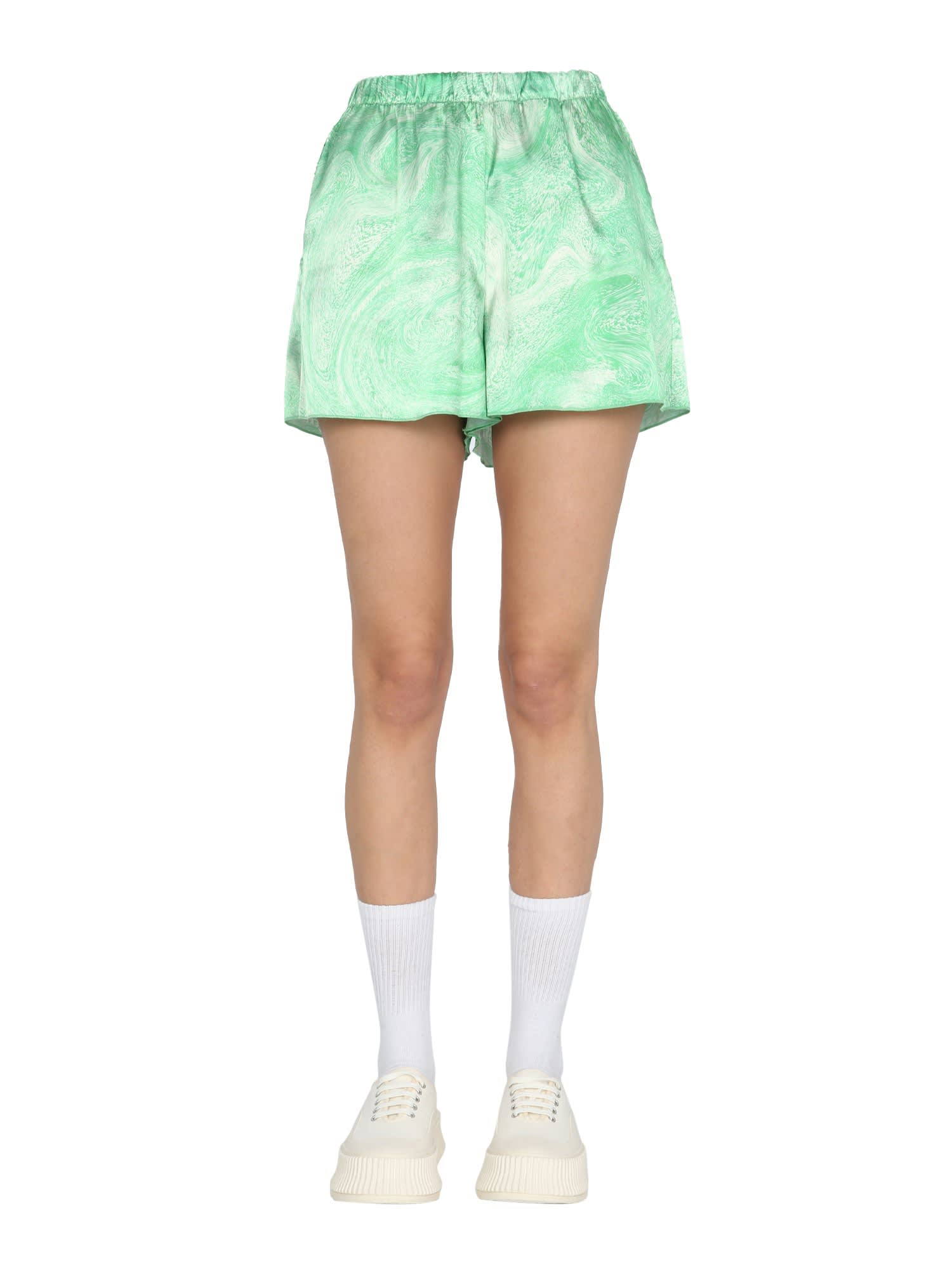 Opening Ceremony MARBLE EFFECT SHORTS