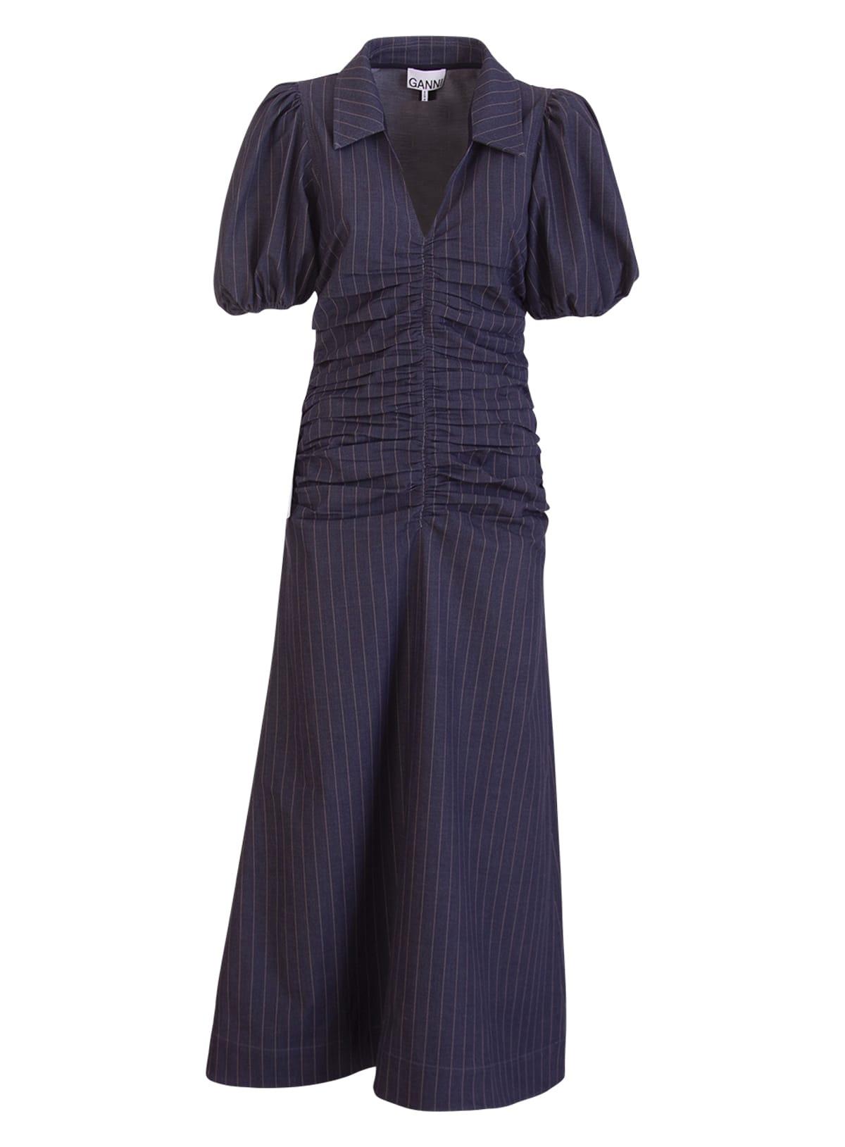 Ganni Downs STRETCH STRIPE DRESS