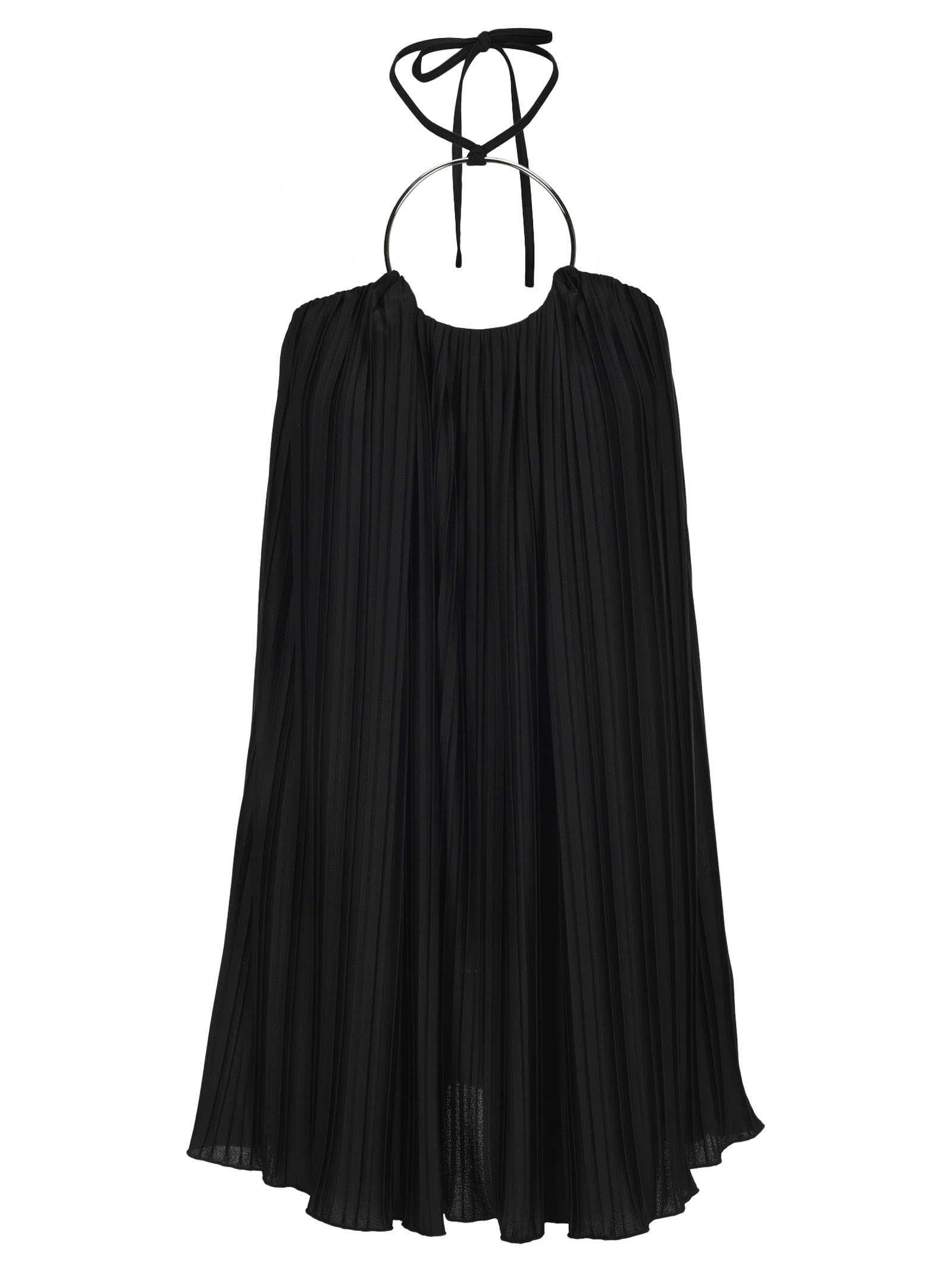 Buy Balmain Pleated Short Dress online, shop Balmain with free shipping