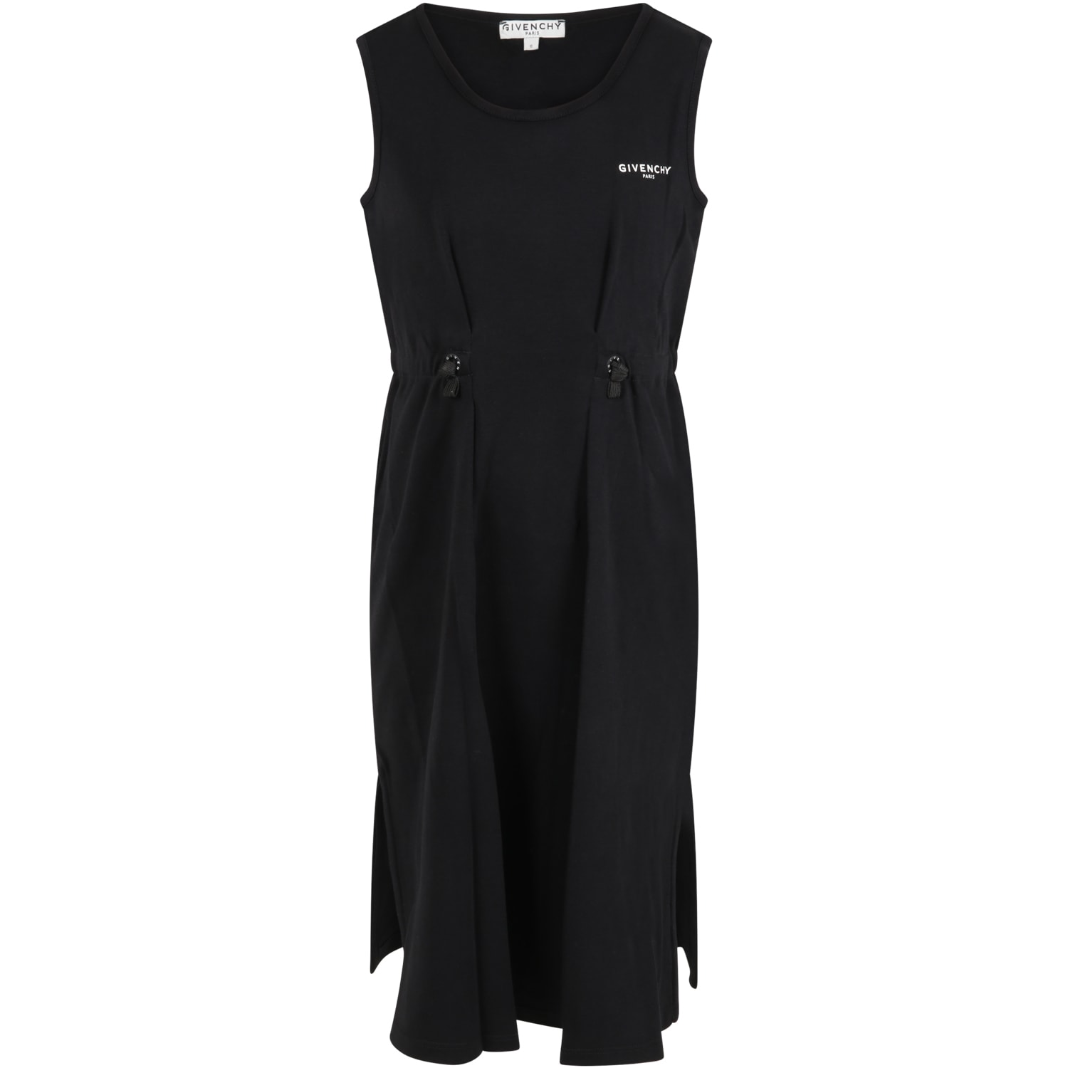 Givenchy Black Dress For Girl With Logo