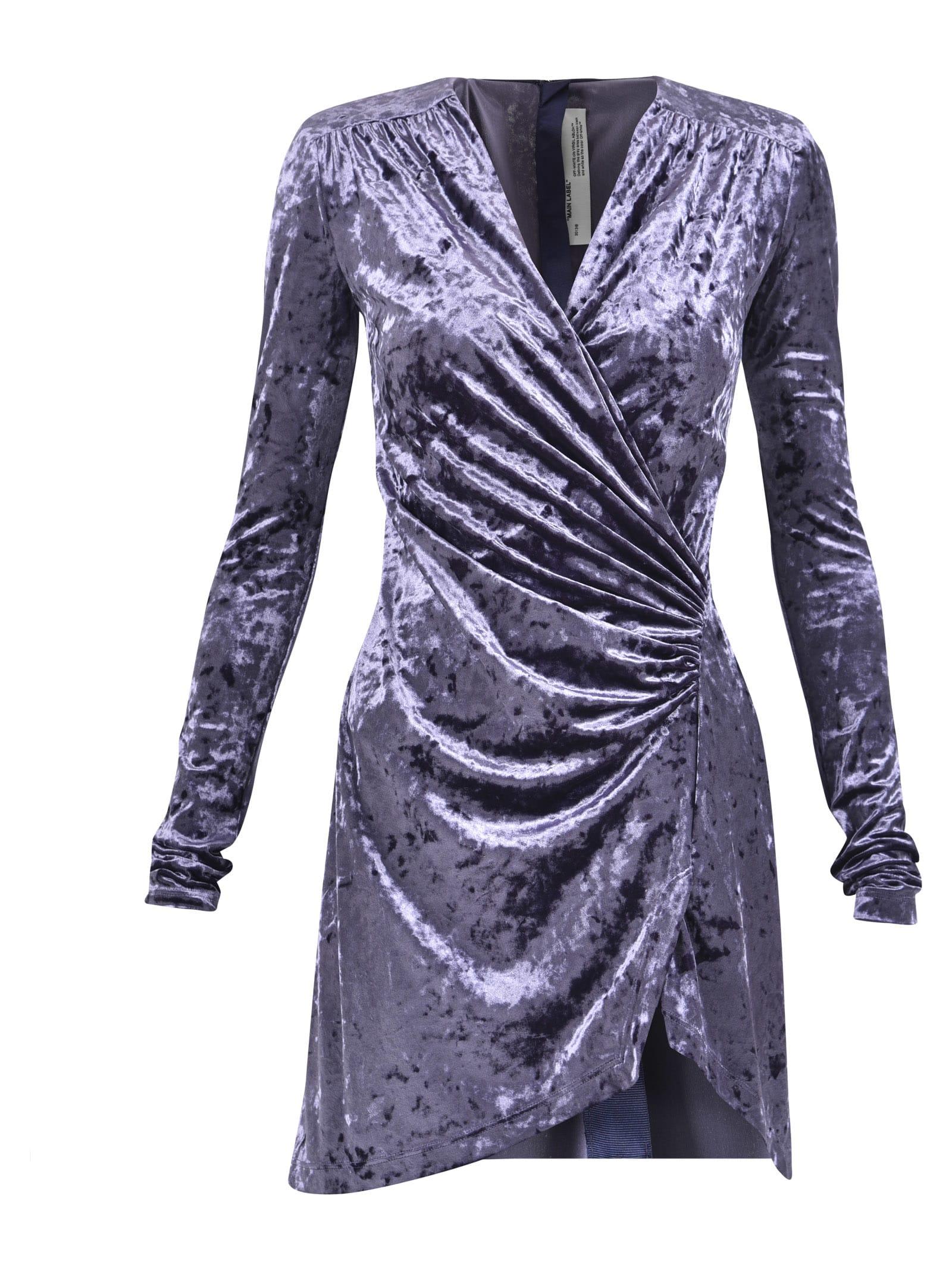 Off-White Draped Dress