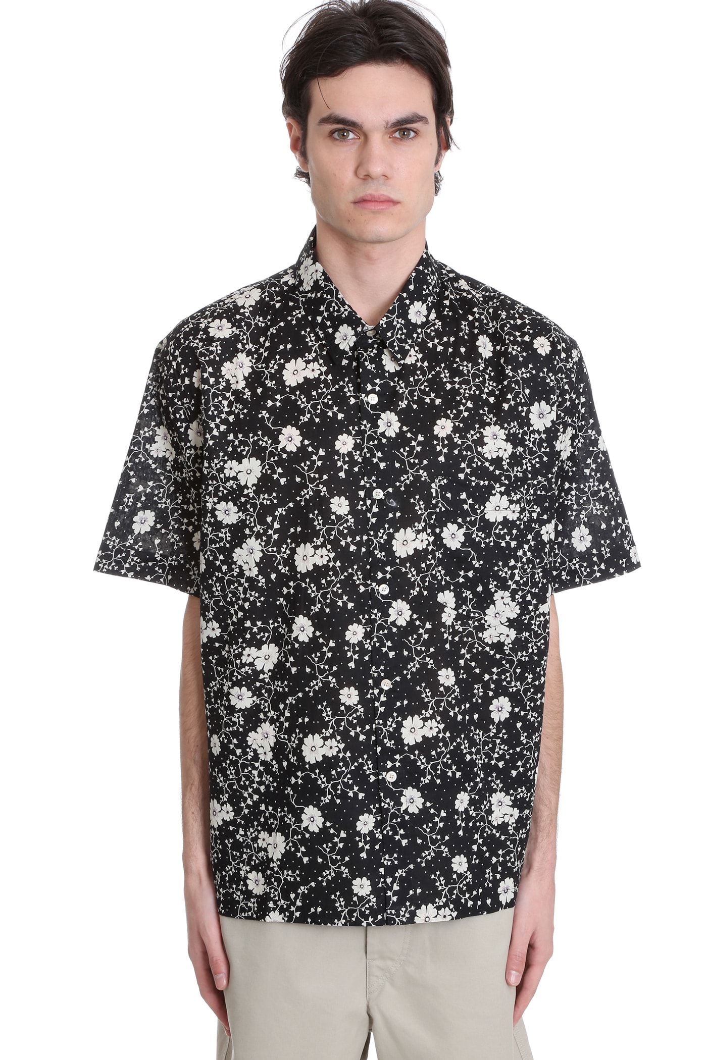 Isabel Marant Shirts IGGY SHIRT IN BLACK COTTON