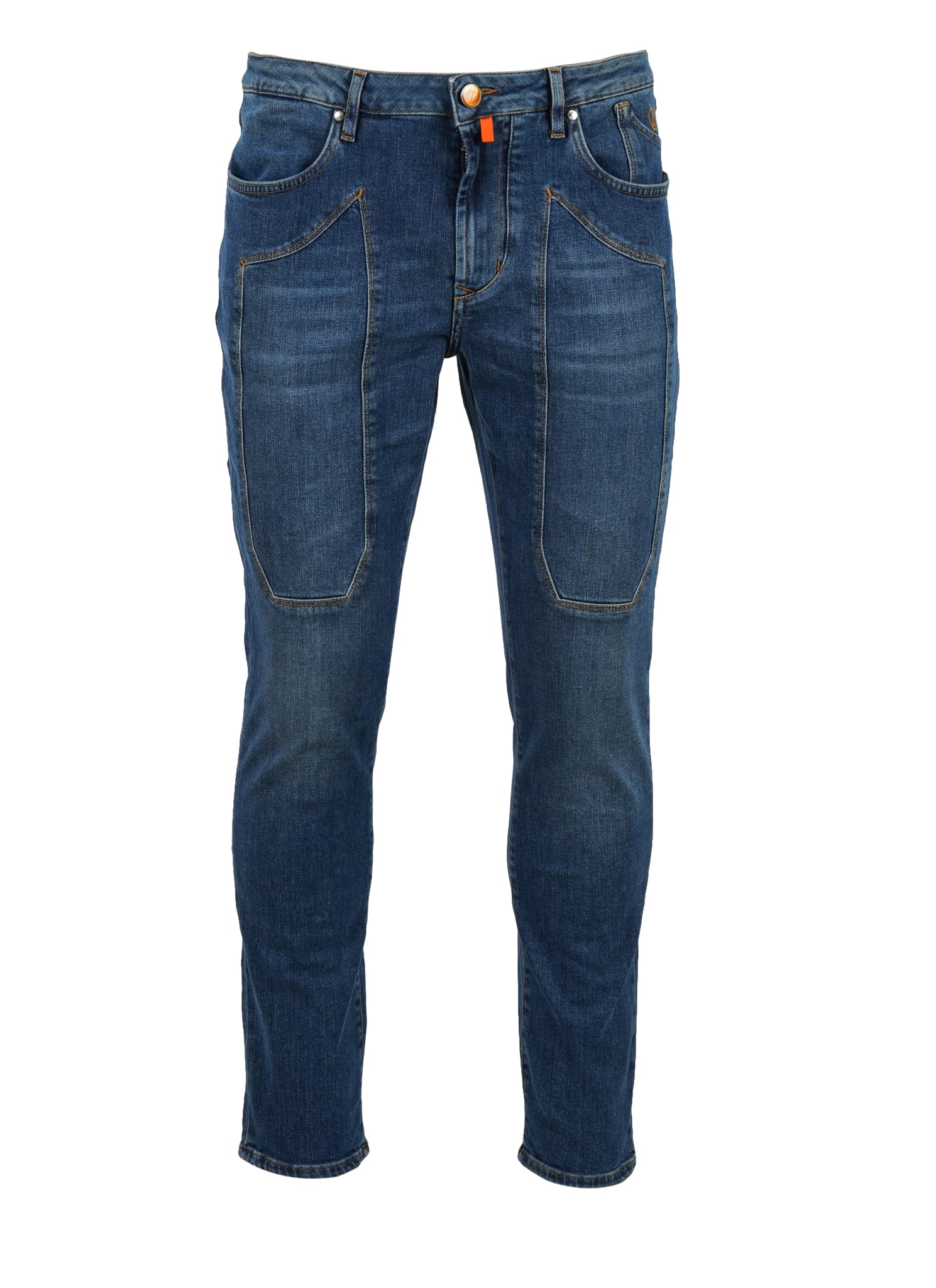 5 Tasche Patch Jeans