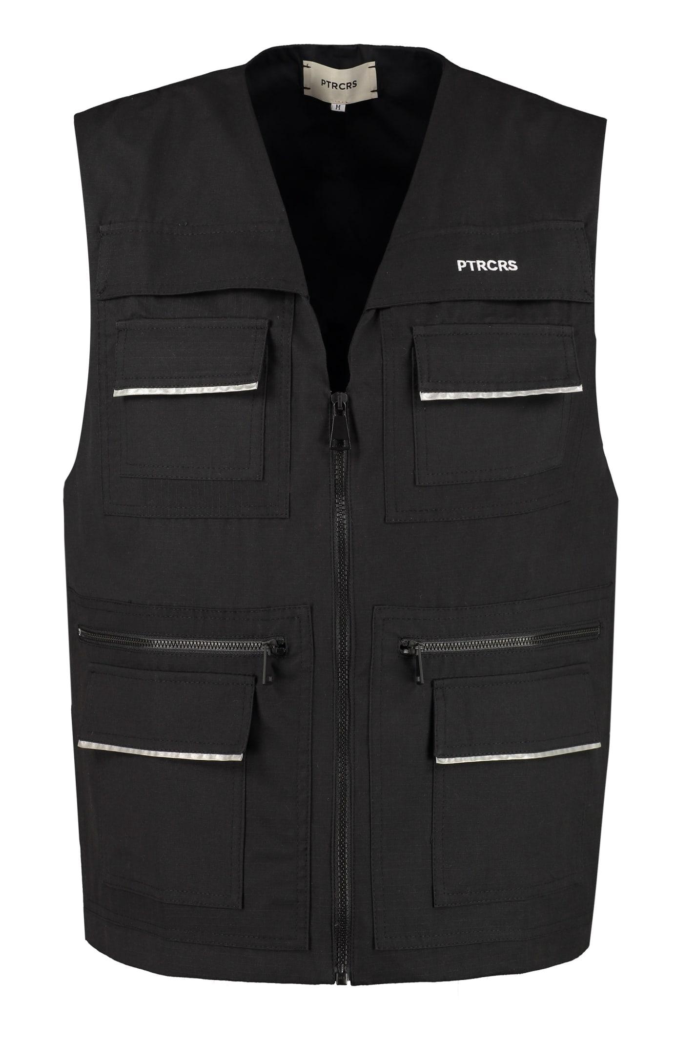 PTRCRS by Christian Petrini Cotton Multi-pocket Vest