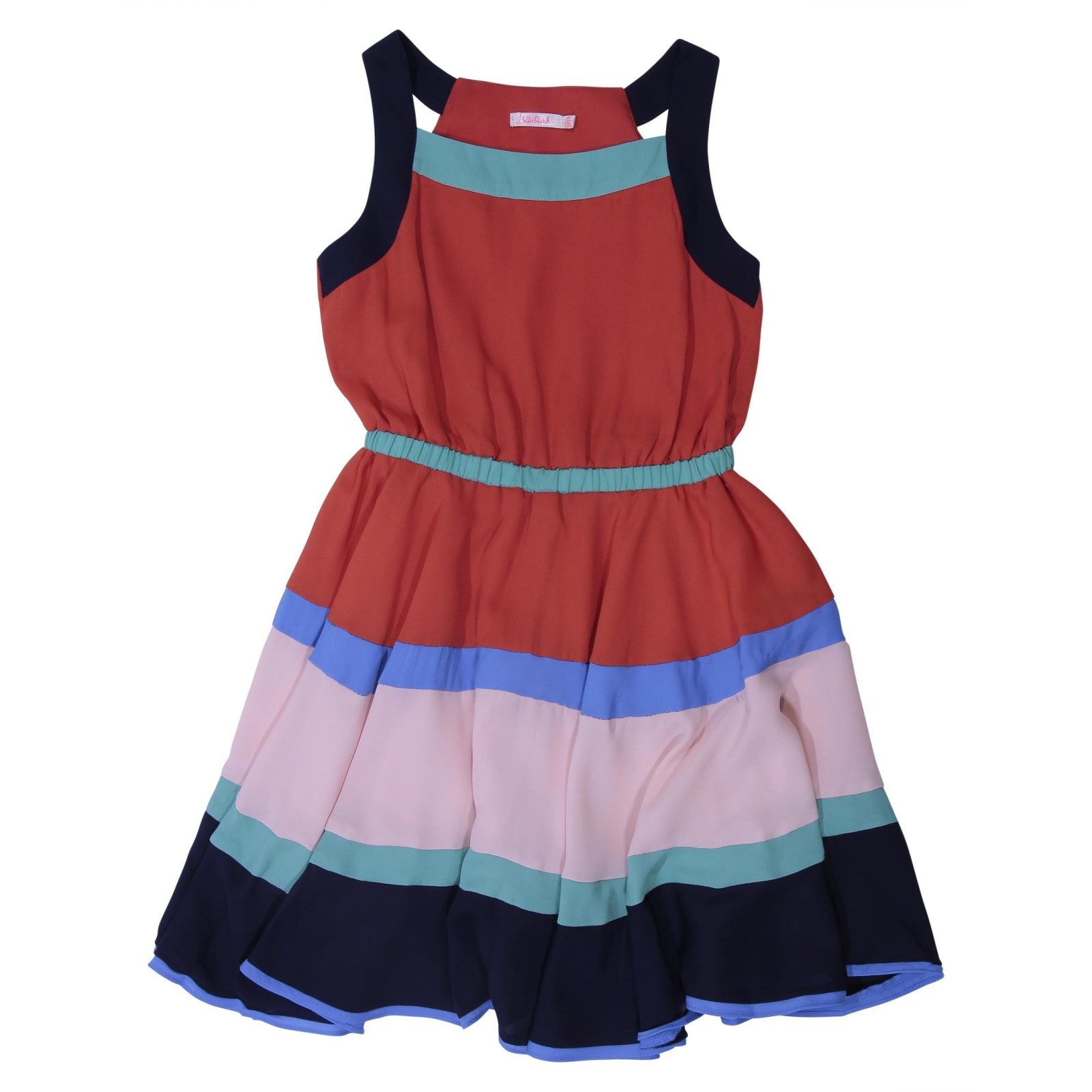 Billieblush Color Block Viscose Georgette Dress