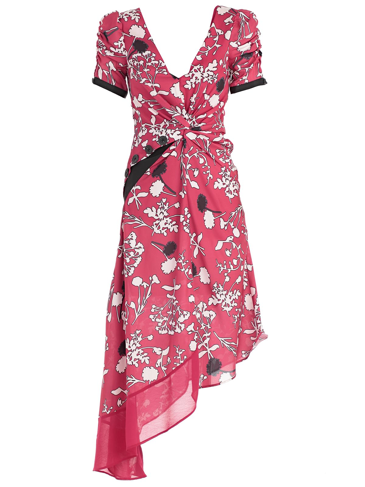 Buy self-portrait Asymmetric Floral Midi Dress online, shop self-portrait with free shipping