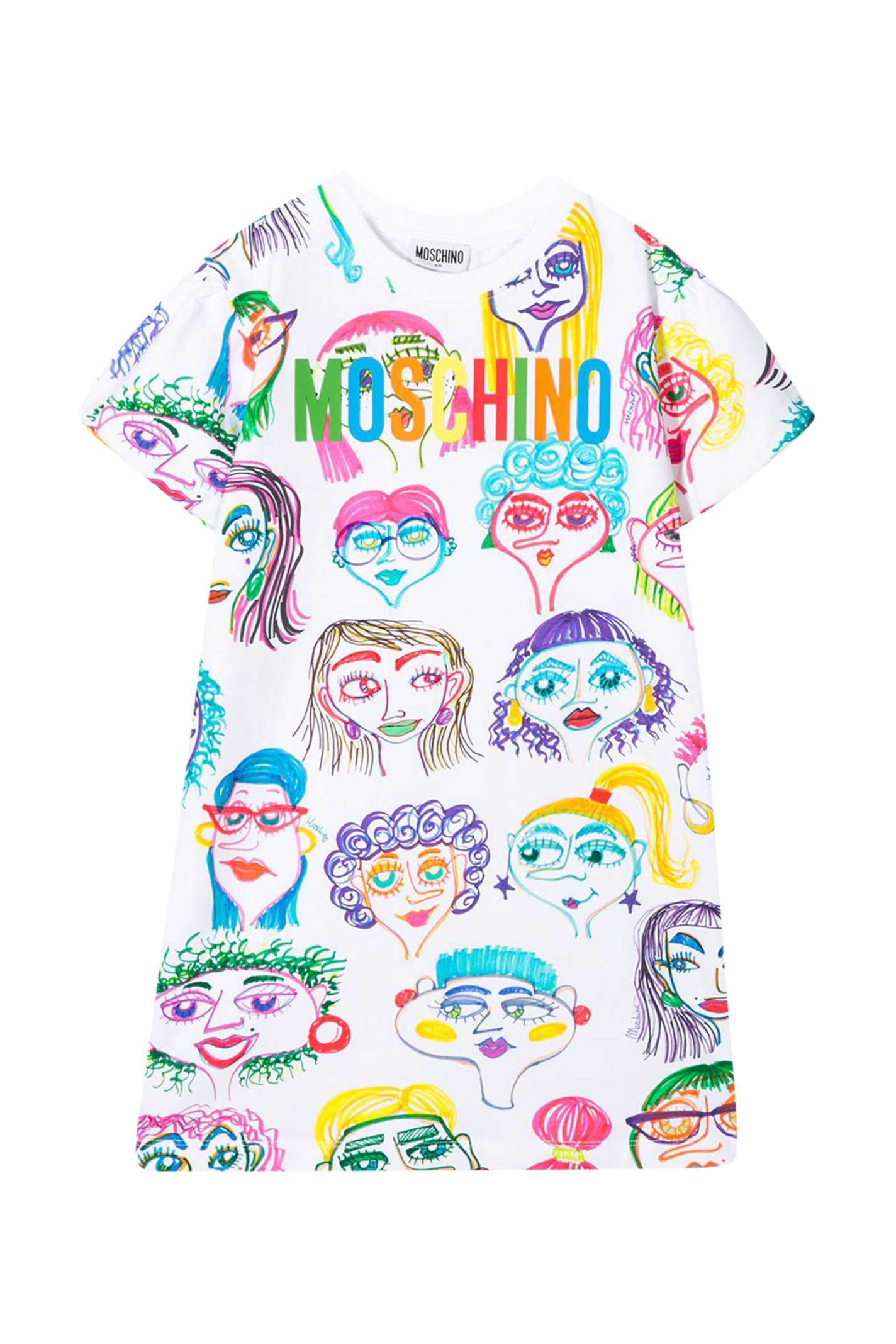 Buy Moschino Kids All Over Print Dress online, shop Moschino with free shipping
