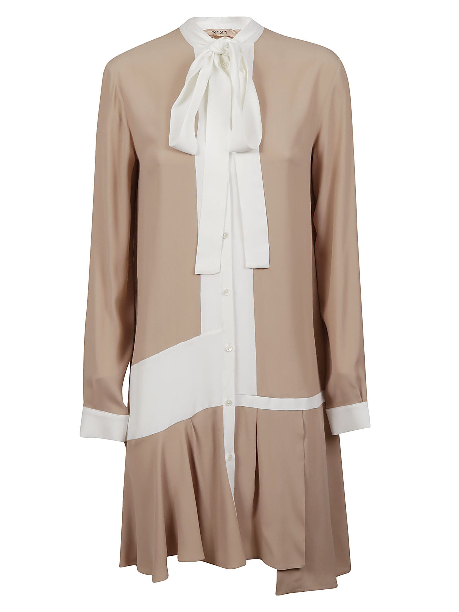 Buy N.21 Tie-neck Shirt Dress online, shop N.21 with free shipping