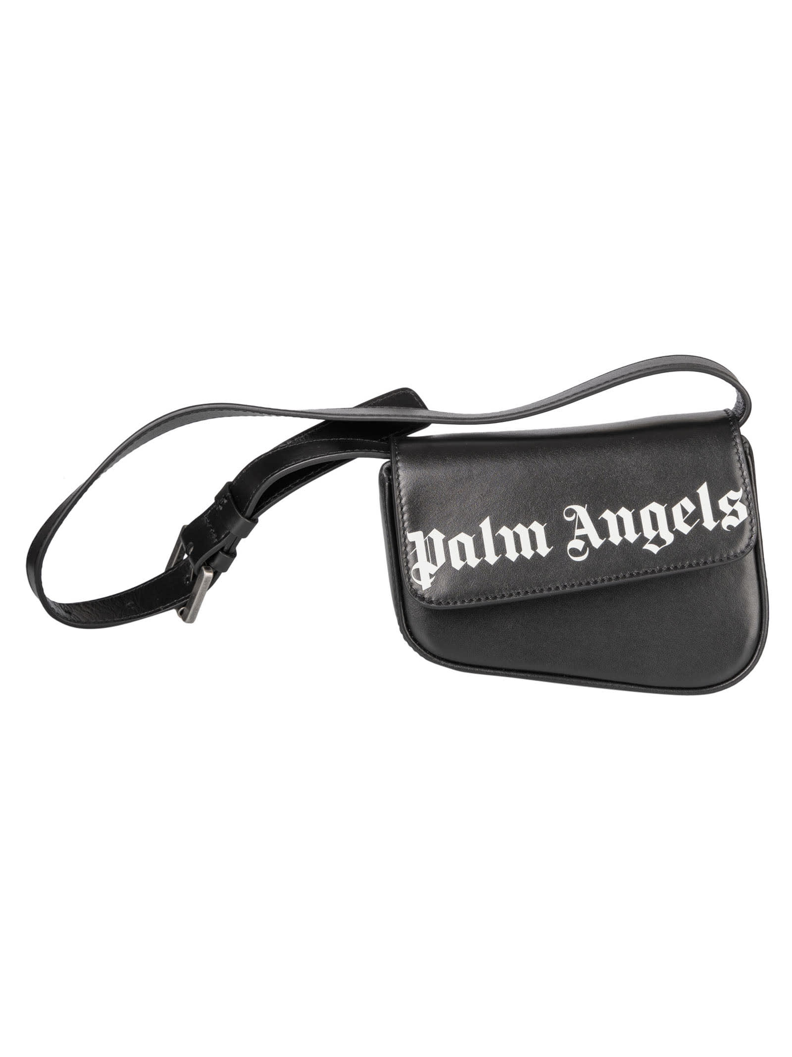 Palm Angels Crash Belt Bag In Black/white