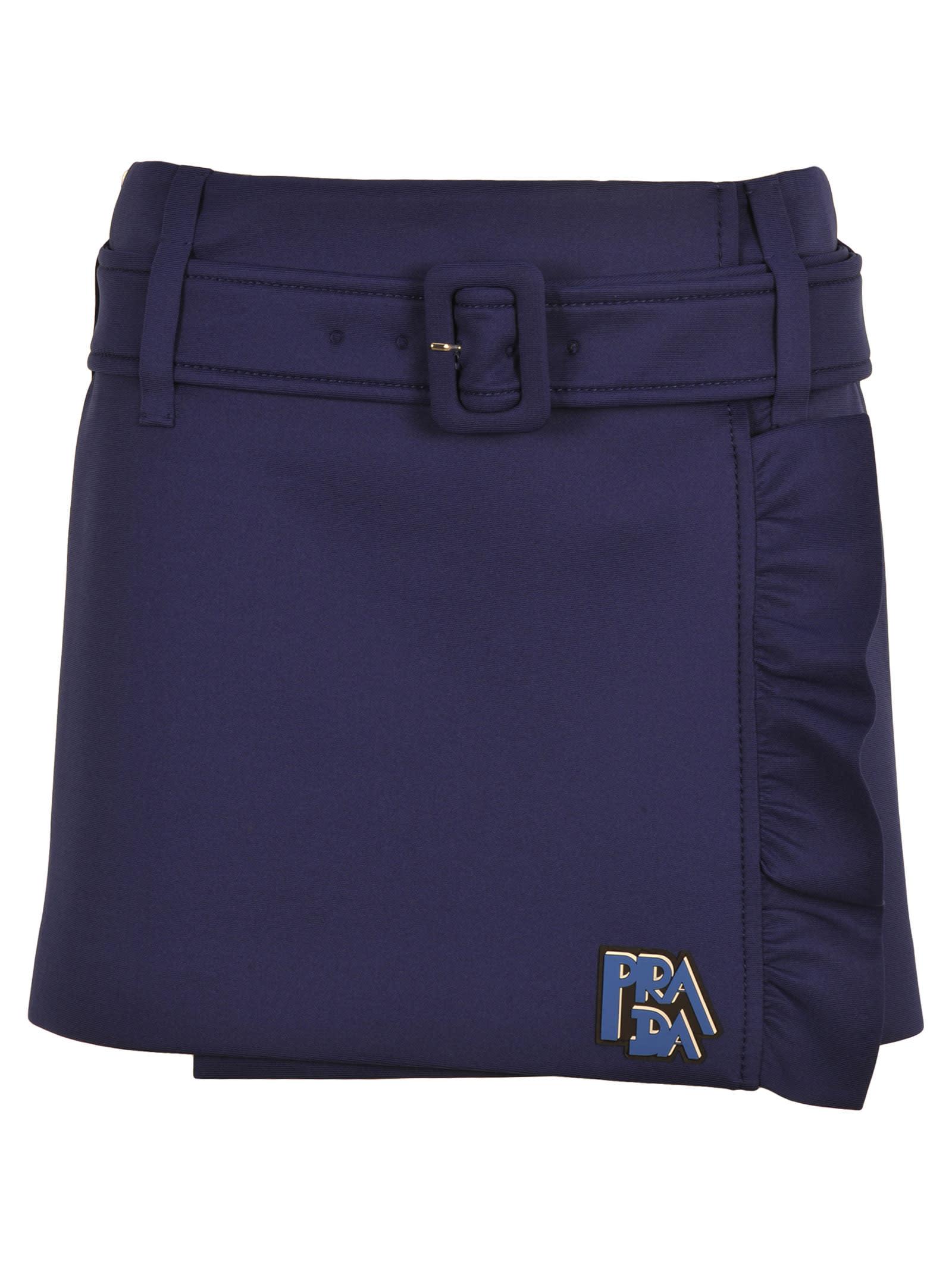01baa68f68389 Prada Prada Envelope Ruffled Mini Skirt