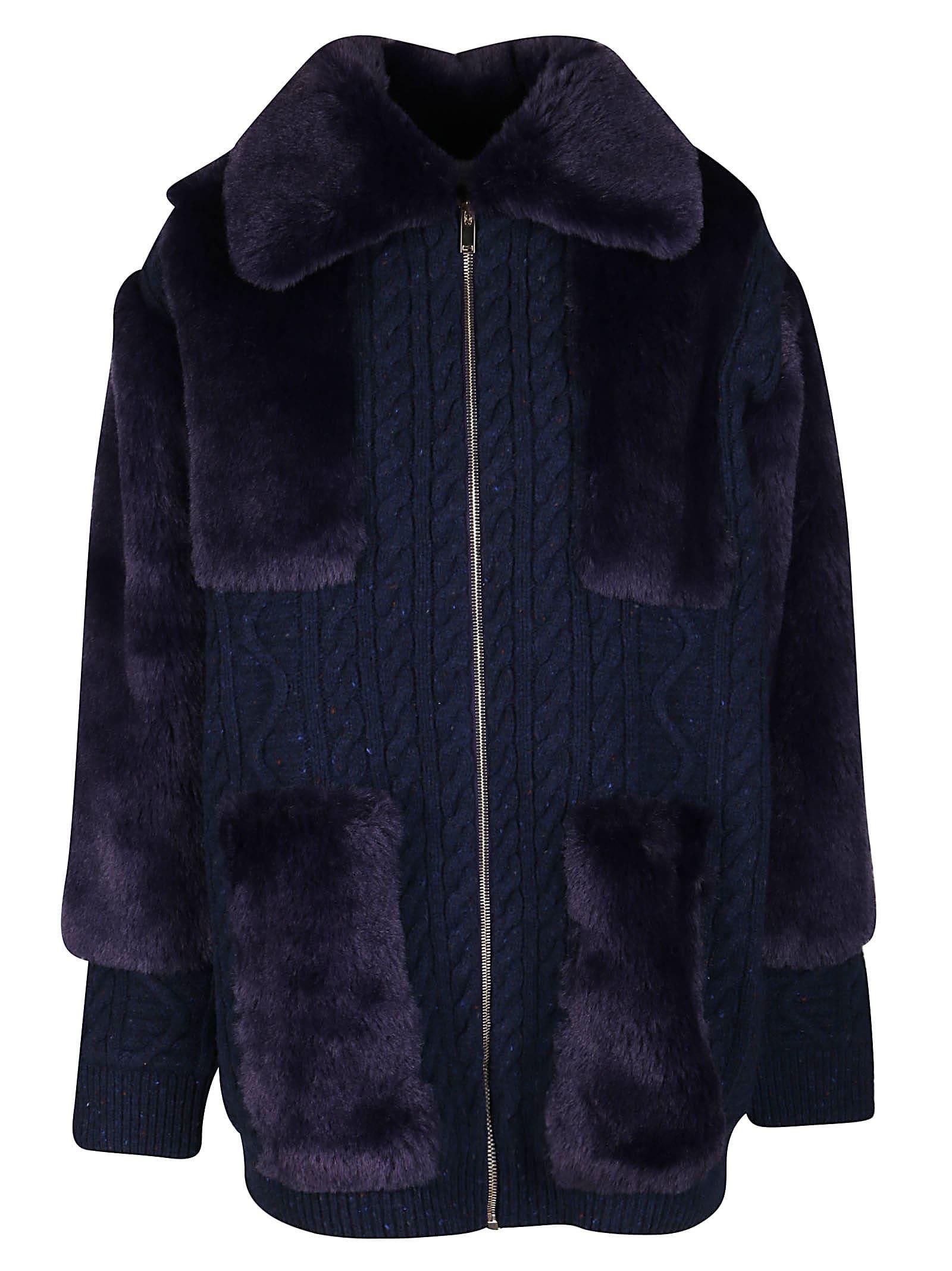Stella McCartney Blue Virgin Wool Coat