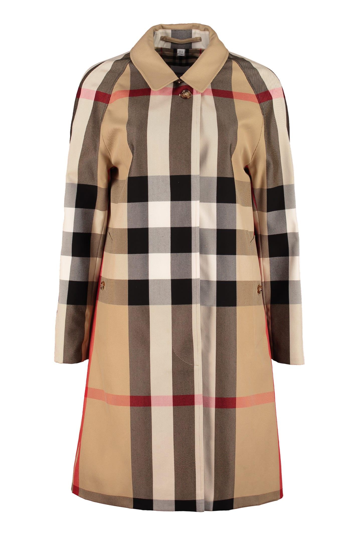 Burberry Checked Print Coat