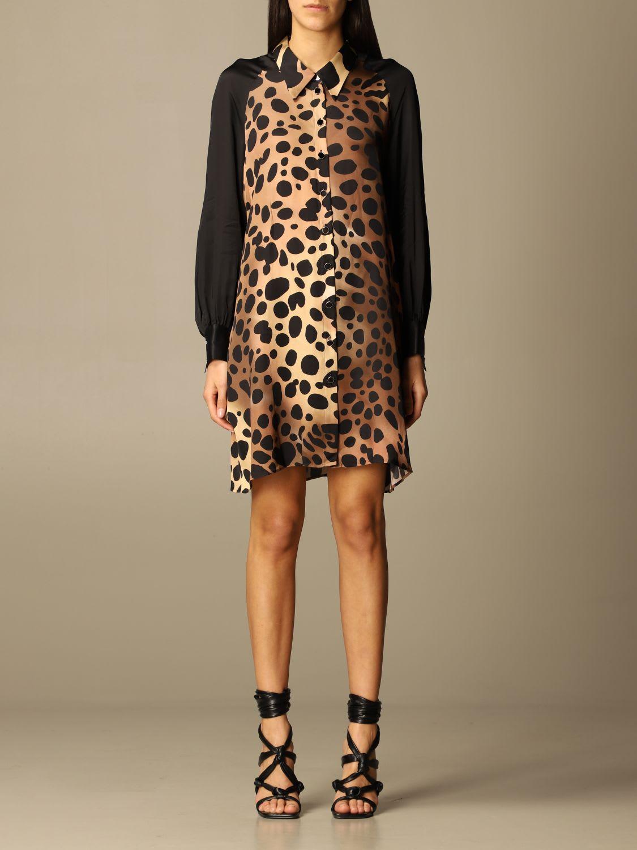 Just Cavalli SHIRT DRESS WITH ANIMALIER PATTERN