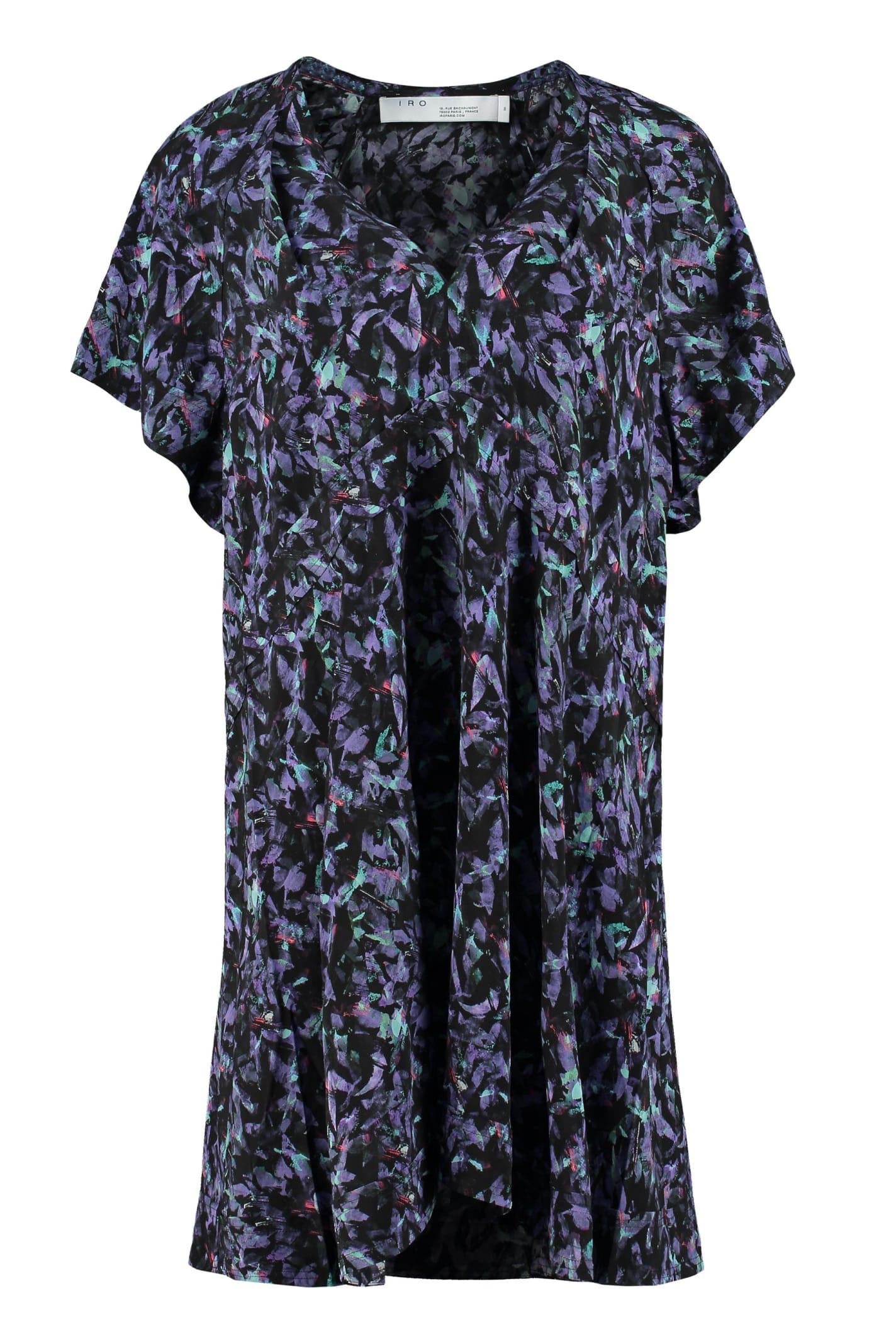 Buy IRO Bago Printed Viscose Dress online, shop IRO with free shipping