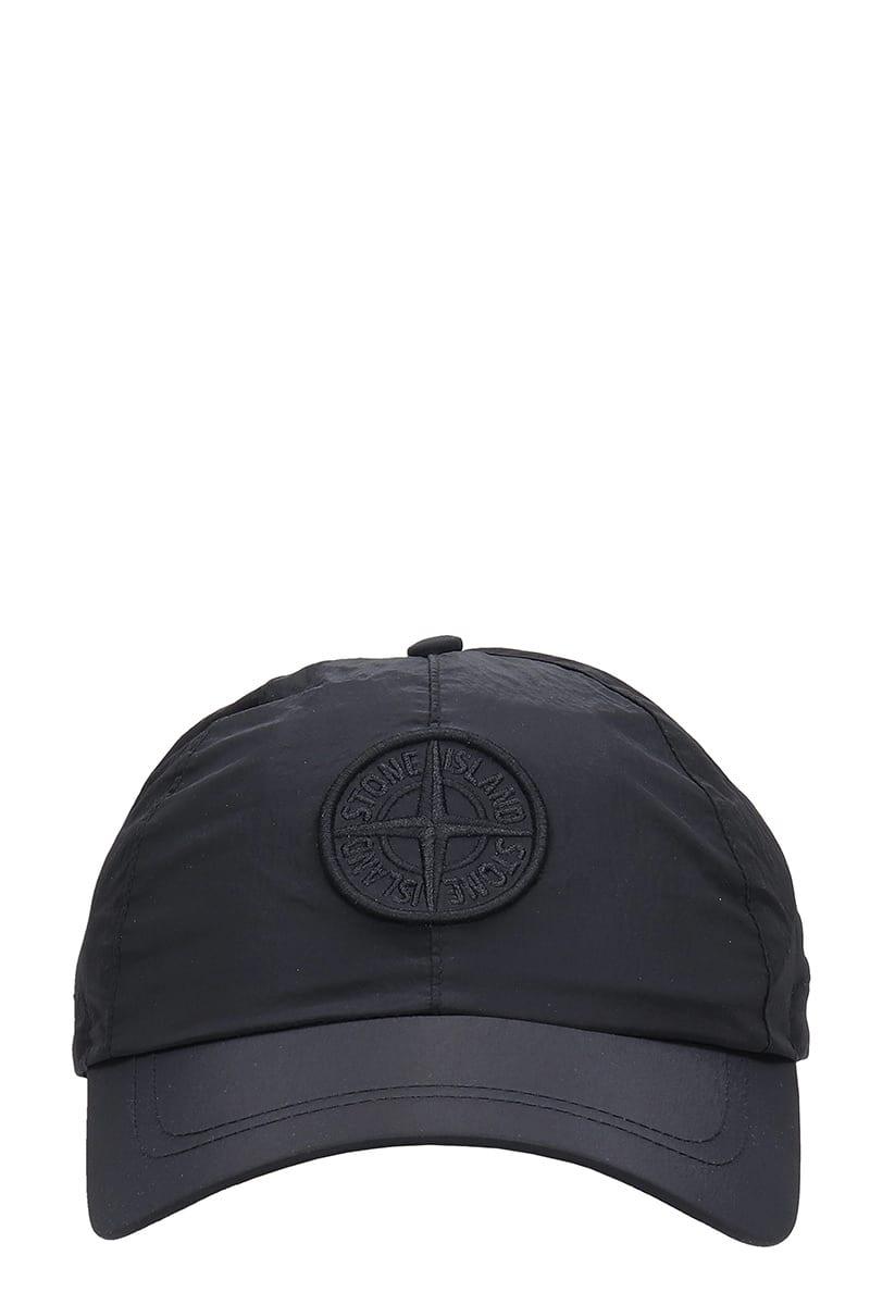 Stone Island HATS IN BLACK NYLON