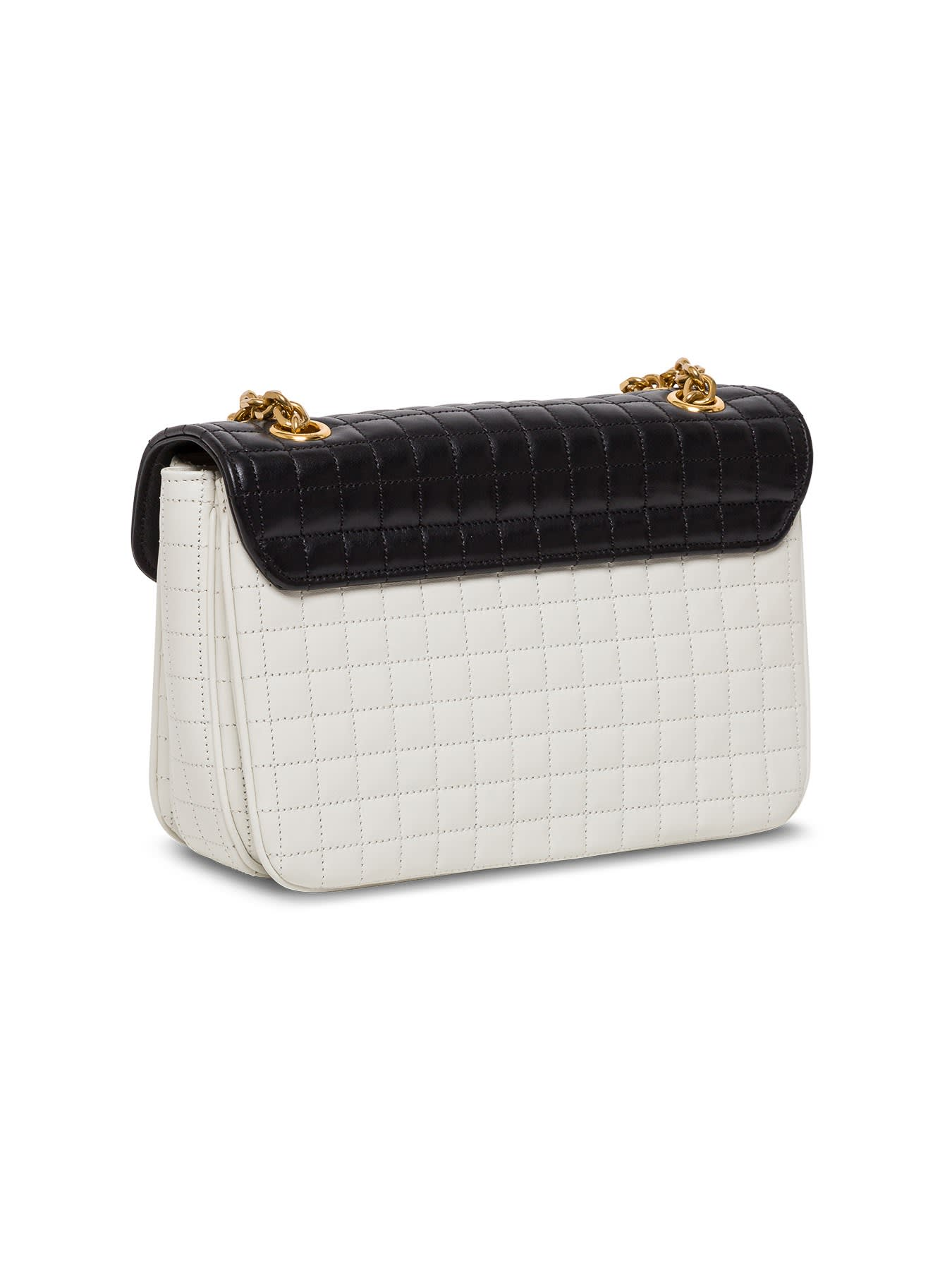Celine C CROSSBODY BAG IN BICOLOR QUILTED LEATHER